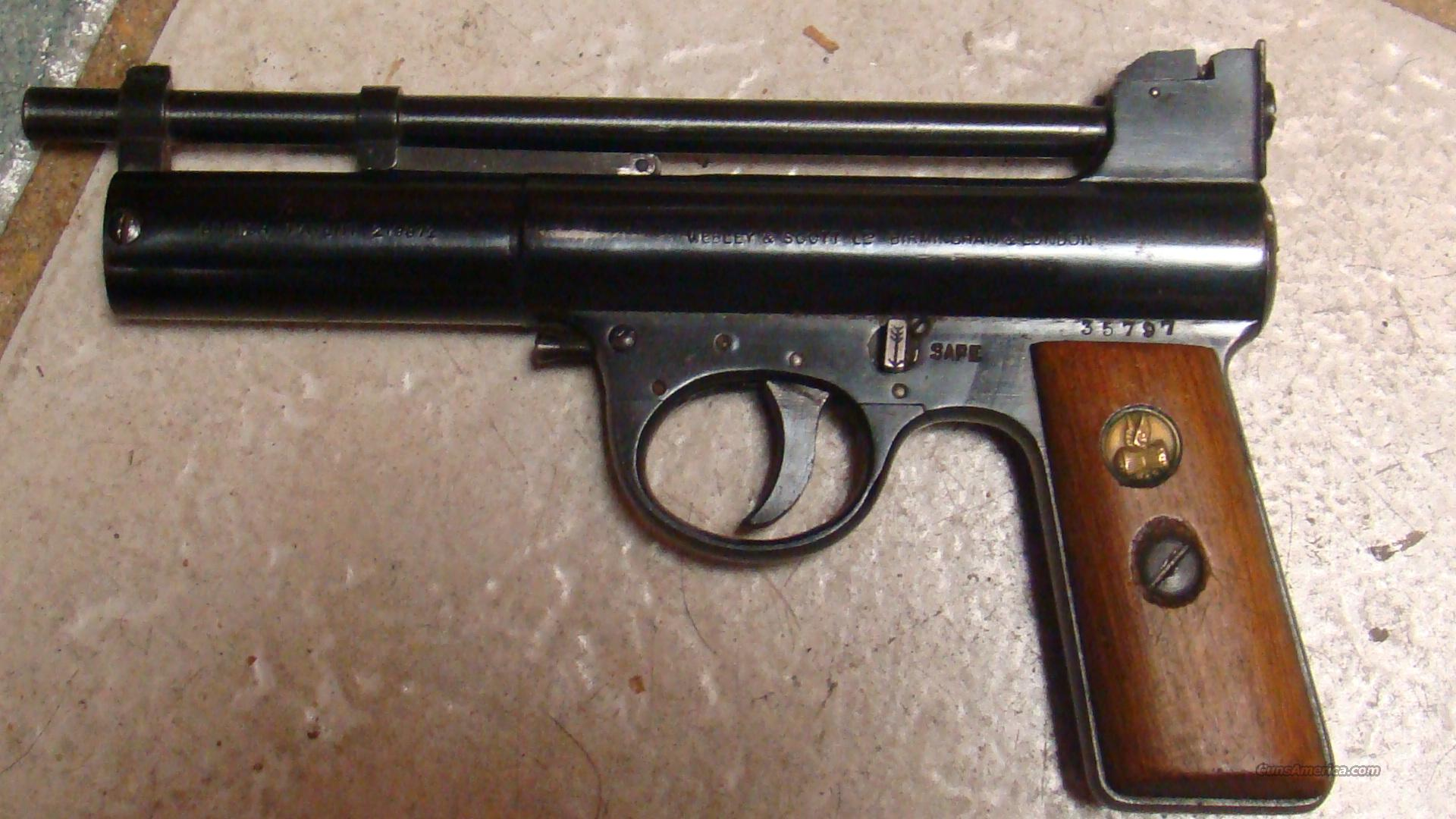 1928 WEBLEY MARK 1 TARGET EXL ++ COND WORKS MINT ALL ORIGL  Non-Guns > Air Rifles - Pistols > Vintage
