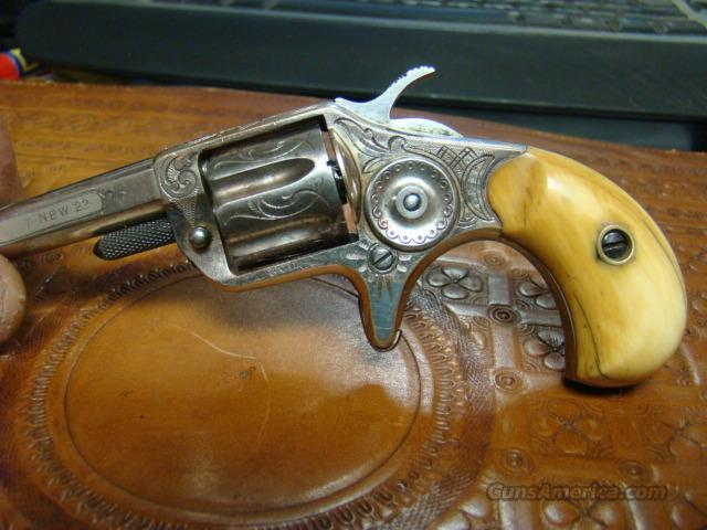 RARE COLT NEW LINE 22 FACTORY NICKEL  ENGRAVED WITH IVORY GRIPS   Guns > Pistols > Colt Single Action Revolvers - 1st Gen.