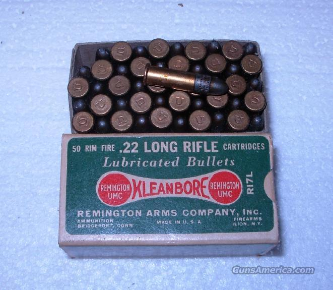 REMINGTON KLEANBORE .22 LONG RIFLE  Non-Guns > Ammunition