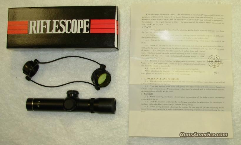 4X20 SHORT RIFLE SCOPE  **  $25.00  Non-Guns > Scopes/Mounts/Rings & Optics > Rifle Scopes > Fixed Focal Length