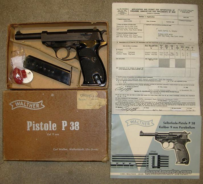 G.I. IMPORT  ***  $699.00  Guns > Pistols > Walther Pistols > Post WWII > Large Frame Autos