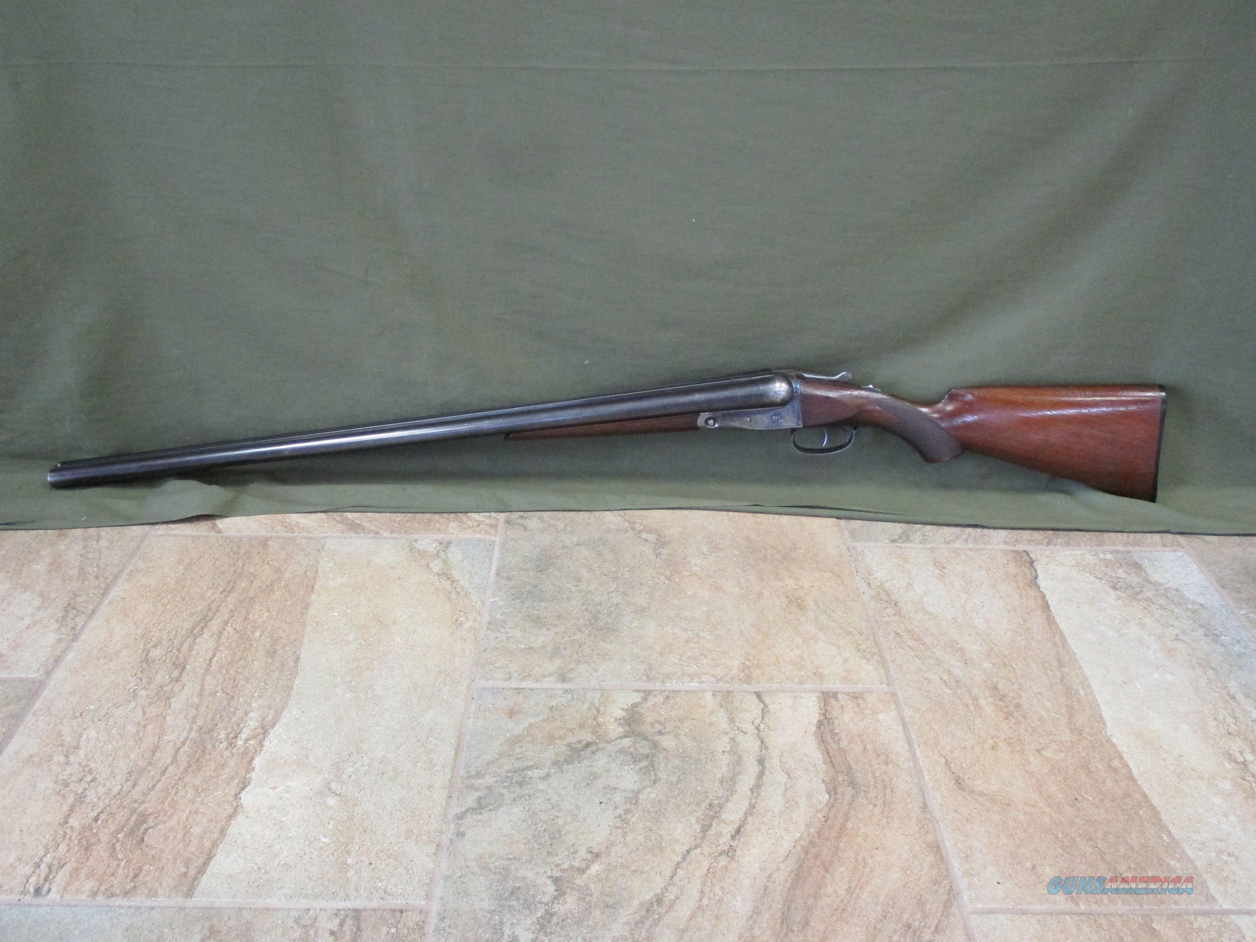 Parker Trojan 12ga w/ Strong Original Case Colors & Wood Buttplate  Guns > Shotguns > Parker Shotguns