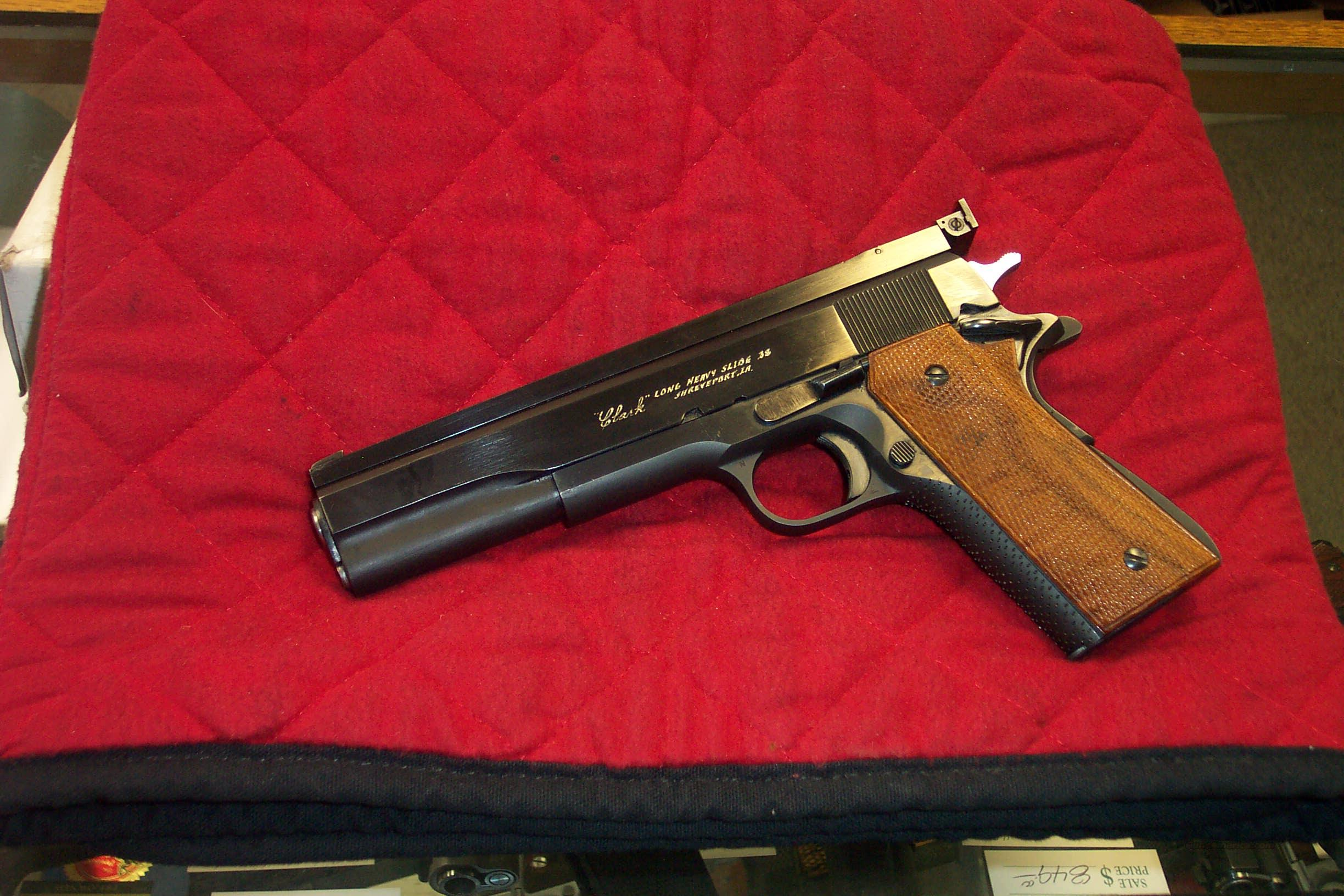 Clark Custom Long-Slide 1911 .38 SWC  Guns > Pistols > Colt Automatic Pistols (1911 & Var)