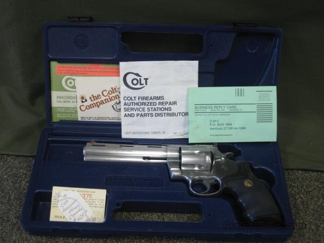 "Colt Anaconda .44Mag Stainless 6""Bbl  Guns > Pistols > Colt Double Action Revolvers- Modern"