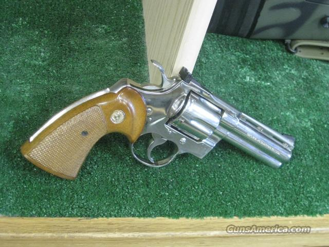 "Colt Python .357 Nickel 4"" REDUCED  Guns > Pistols > Colt Double Action Revolvers- Modern"