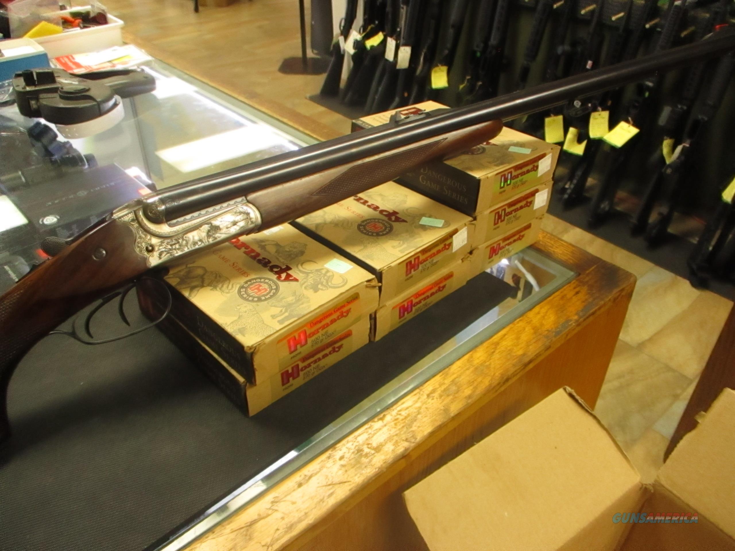 Merkel Safari Grade Double Rifle .500 NE w/ammo  Guns > Rifles > Merkel Rifles