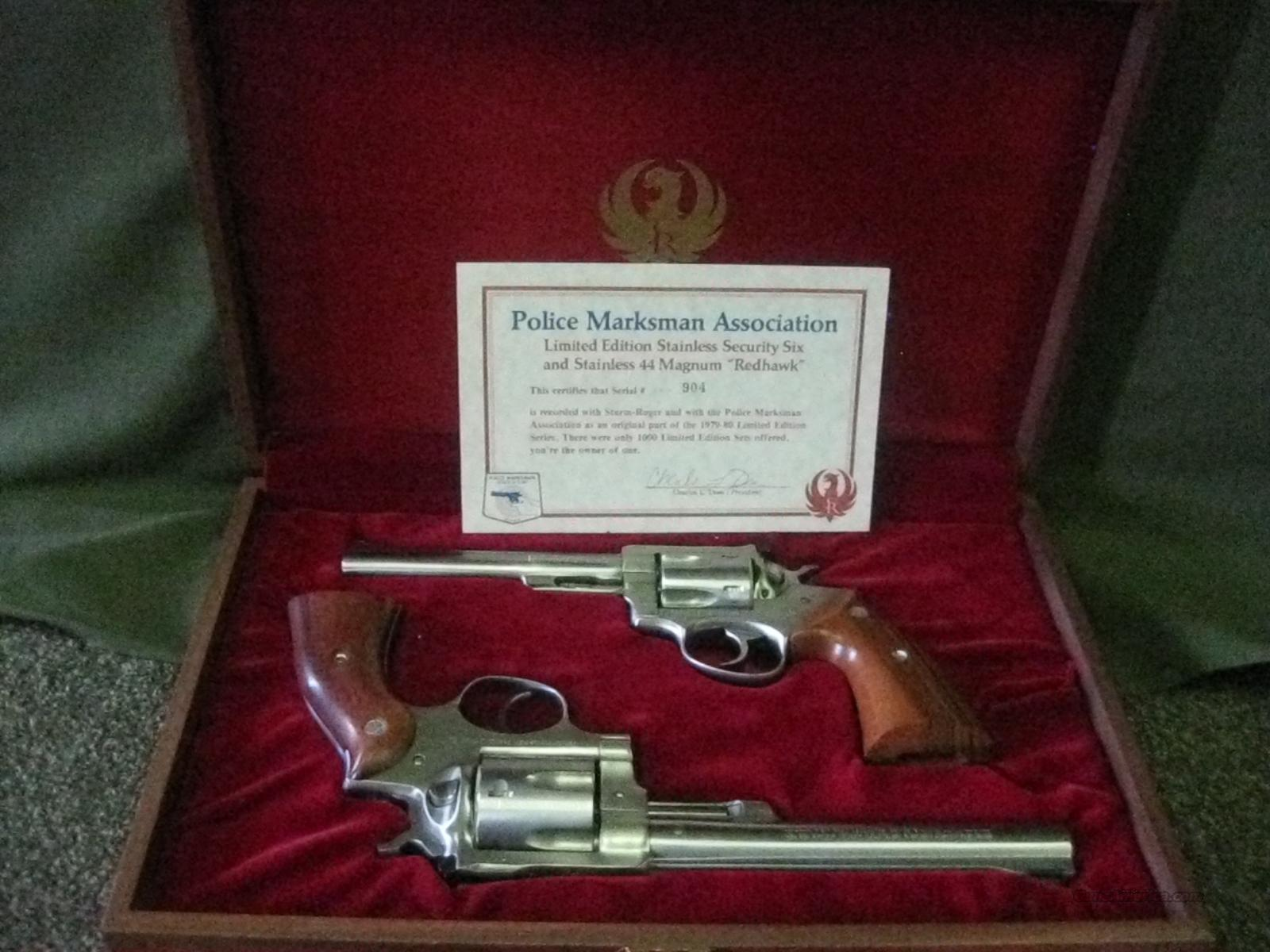 "Ruger Matched Pair ""Police Marksman Assoc"" 357 & 44  Guns > Pistols > Ruger Double Action Revolver > Redhawk Type"