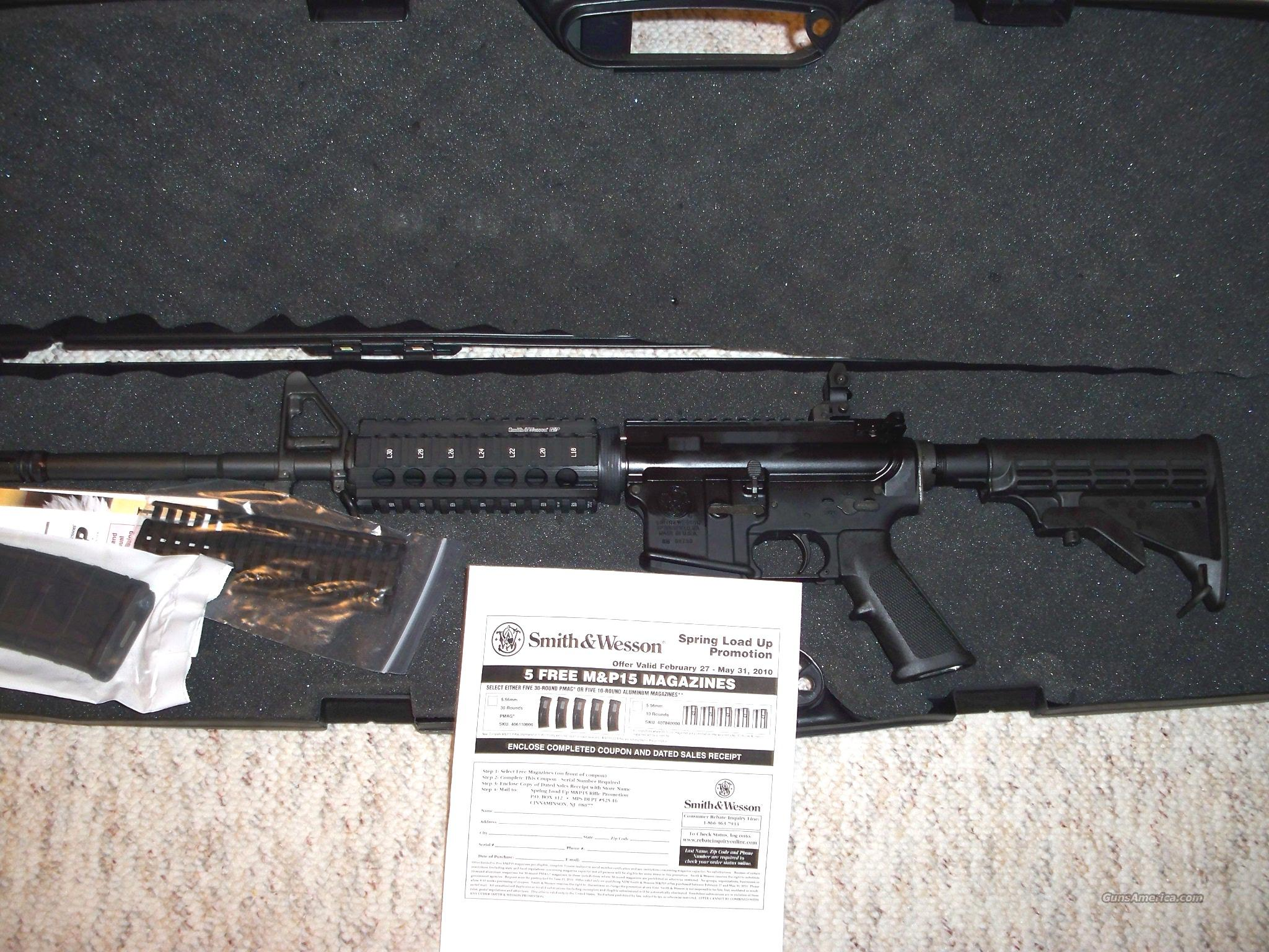 S&W M&P 15X .556 NATO 16 INCH TACTICAL 5 FREE MAG  Guns > Rifles > Smith & Wesson Rifles > M&P