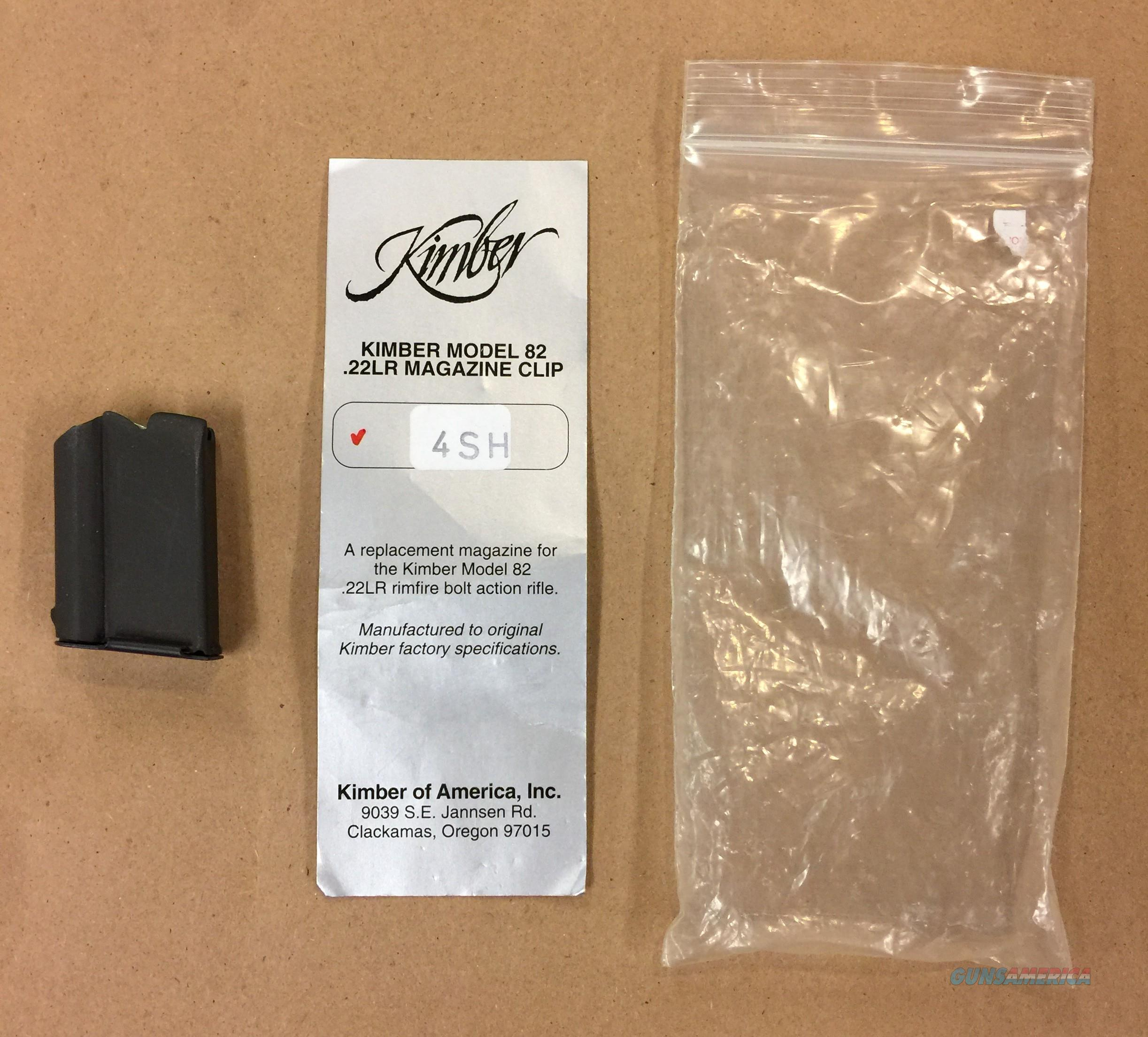 Original Kimber Model 82 .22LR 4 Rd. Magazine  Non-Guns > Magazines & Clips > Rifle Magazines > Other