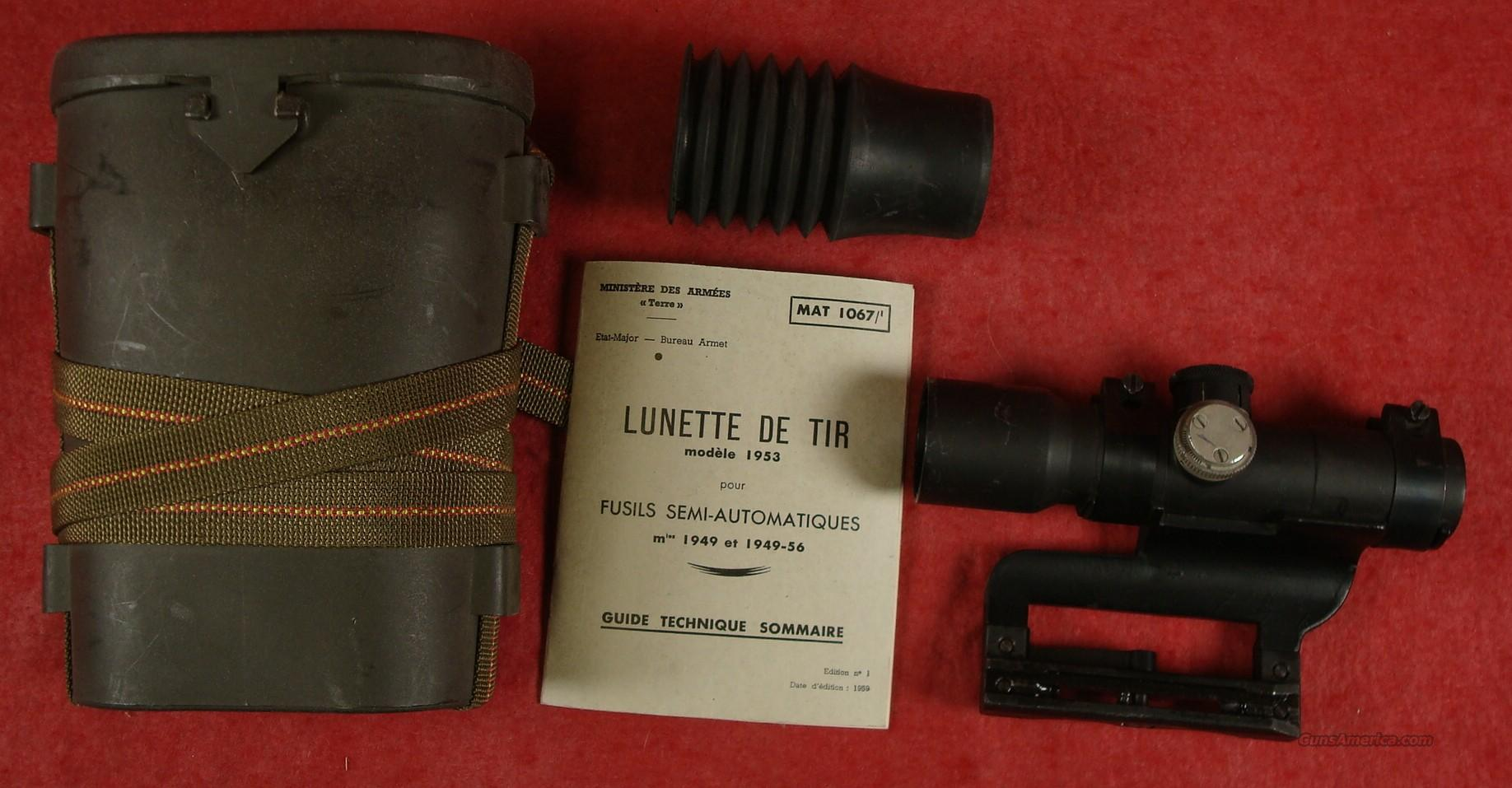 French APX L 806 / Mle. 1953 sniper scope for MAS 49/56, MAS 49  Non-Guns > Scopes/Mounts/Rings & Optics > Rifle Scopes > Fixed Focal Length
