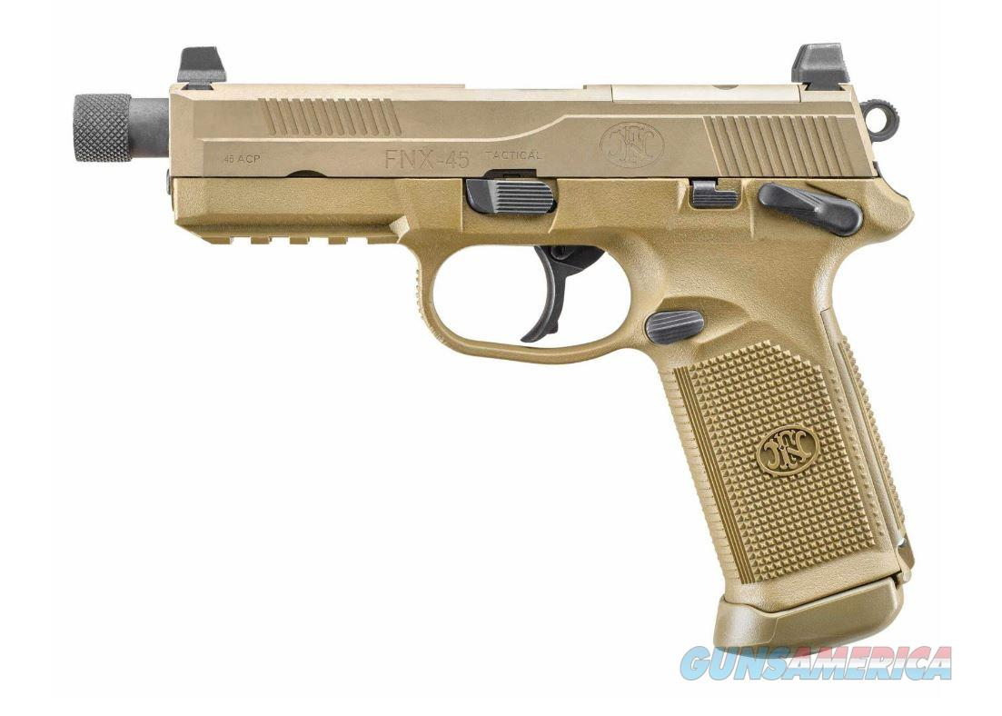 FN FNX-45 Tactical, FDE, W/ case & 3 15 Rd Mags  Guns > Pistols > FNH - Fabrique Nationale (FN) Pistols > FNX