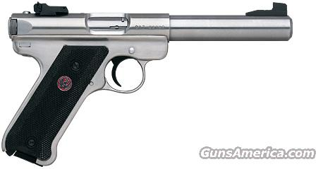 "Ruger Stainless MK III .22 LR, 5 1/2"" barrel, NEW!  Guns > Pistols > Ruger Semi-Auto Pistols > Mark I & II Family"