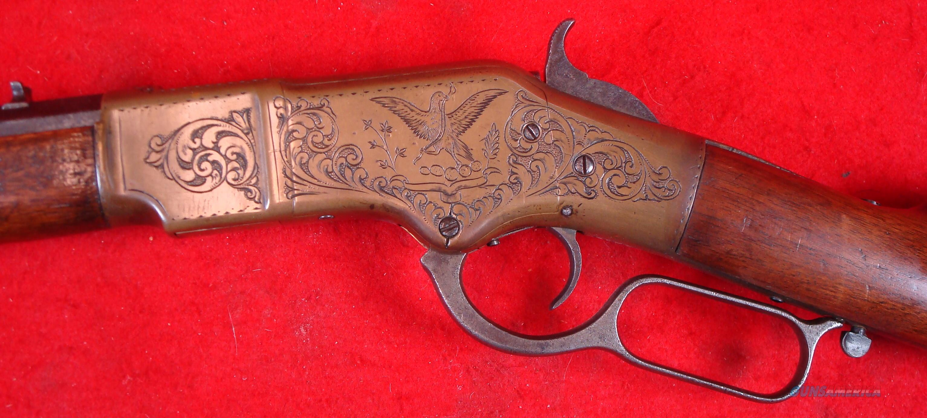 Winchester 1866 Rifle Engraved  Guns > Rifles > Winchester Rifles - Pre-1899 Lever