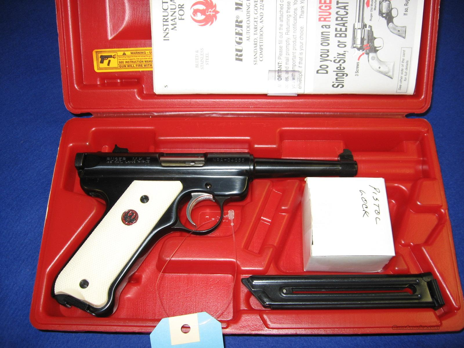 "Ruger MKII ""NRA-WBR"" Comm.  Guns > Pistols > Ruger Semi-Auto Pistols > Mark I & II Family"