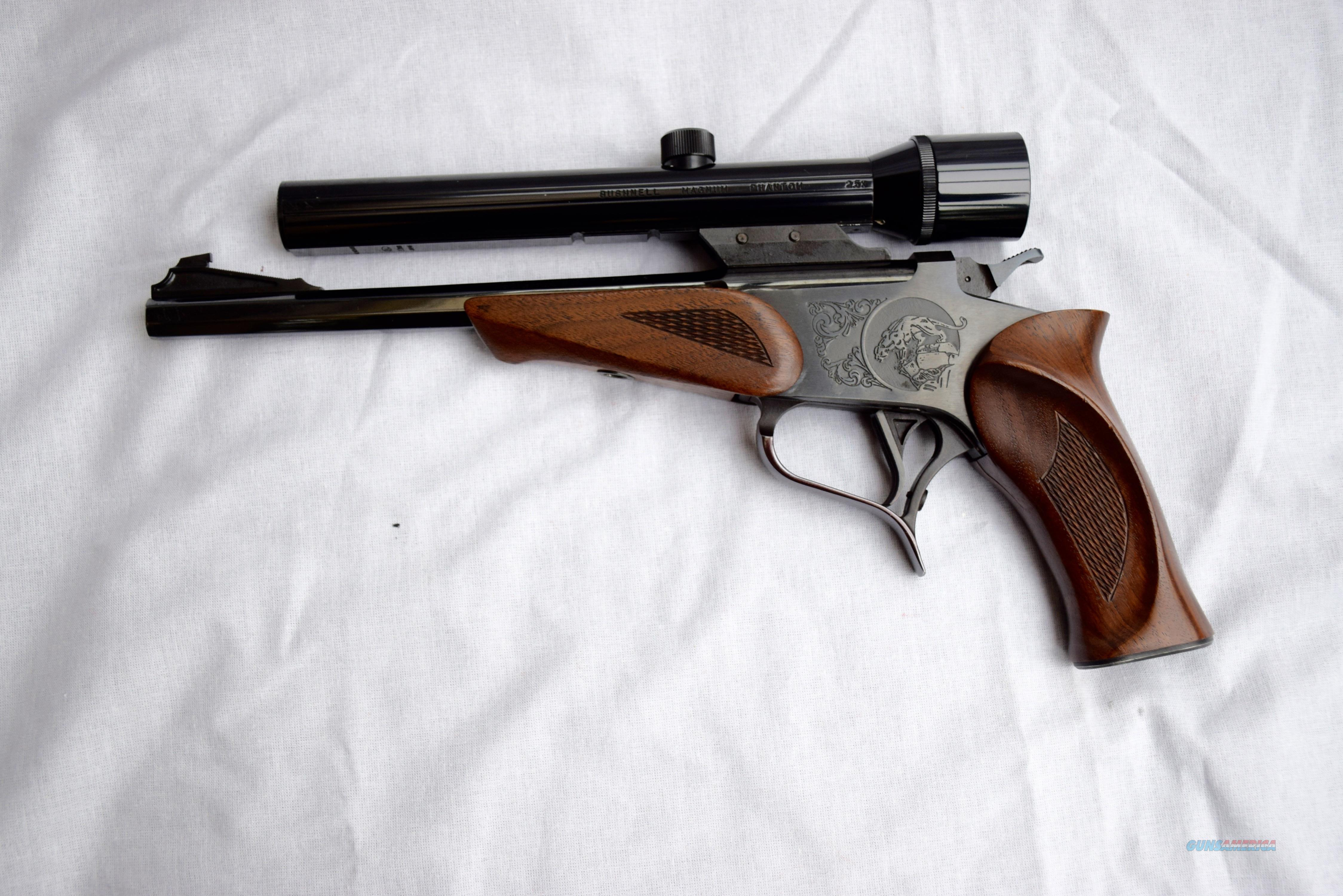 THOMPSON CENTER CONTENDER WITH BUSHNELL SCOPE IN .357 MAGNUM  GEN. 1  Guns > Pistols > Thompson Center Pistols > Contender