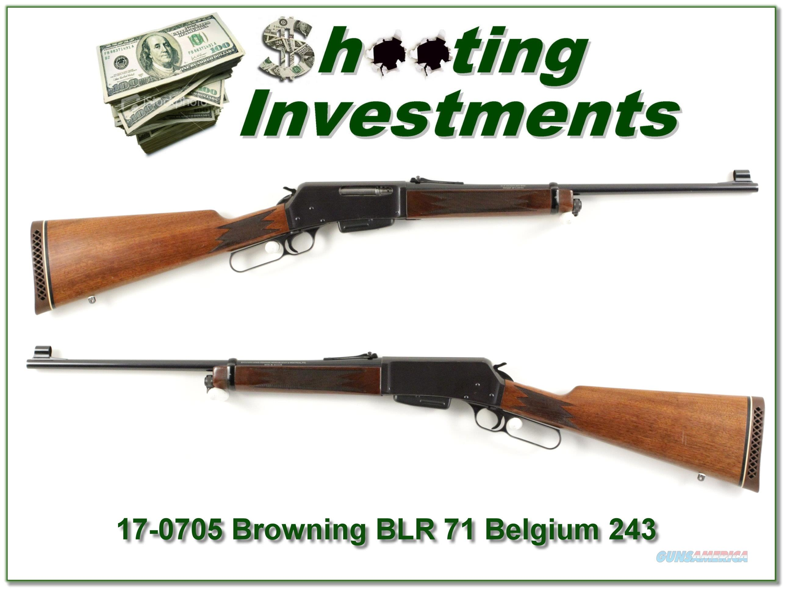 Browning BLR Belgium hard to find 243!  Guns > Rifles > Browning Rifles > Lever Action
