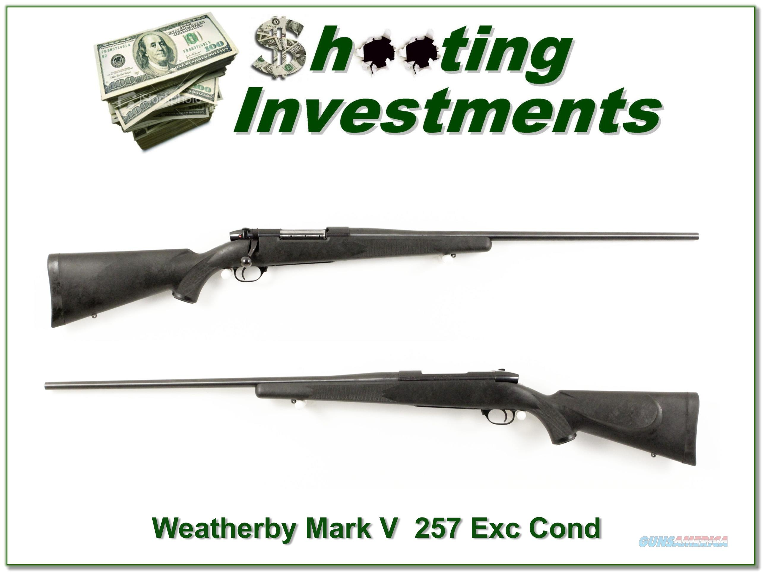 Weatherby Mark V 26in Synthetic 257 Exc Cond with 2 stocks!  Guns > Rifles > Weatherby Rifles > Sporting