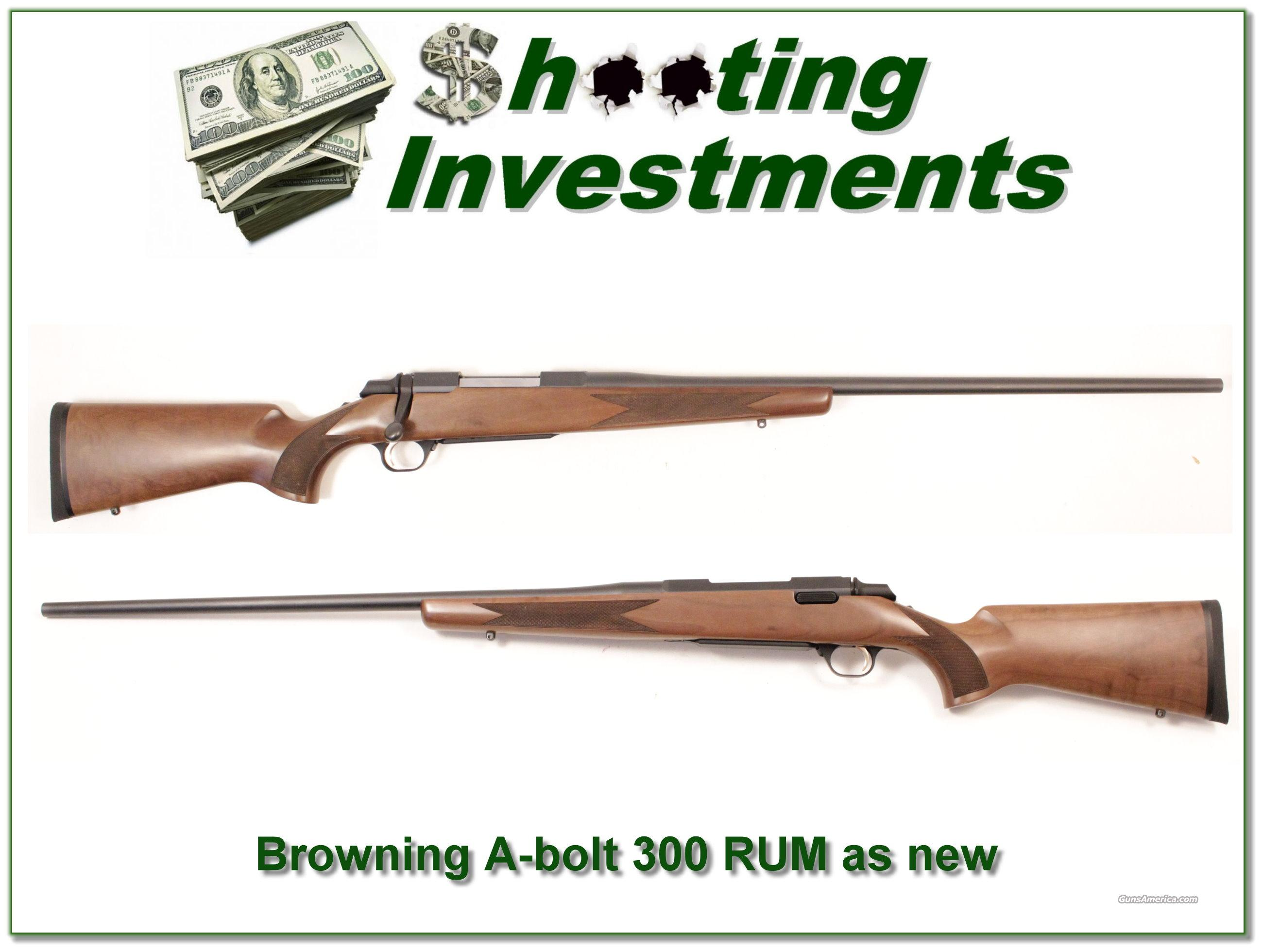 Browning A-bolt Rare 300 Rem Ultra Magnum near ... for sale