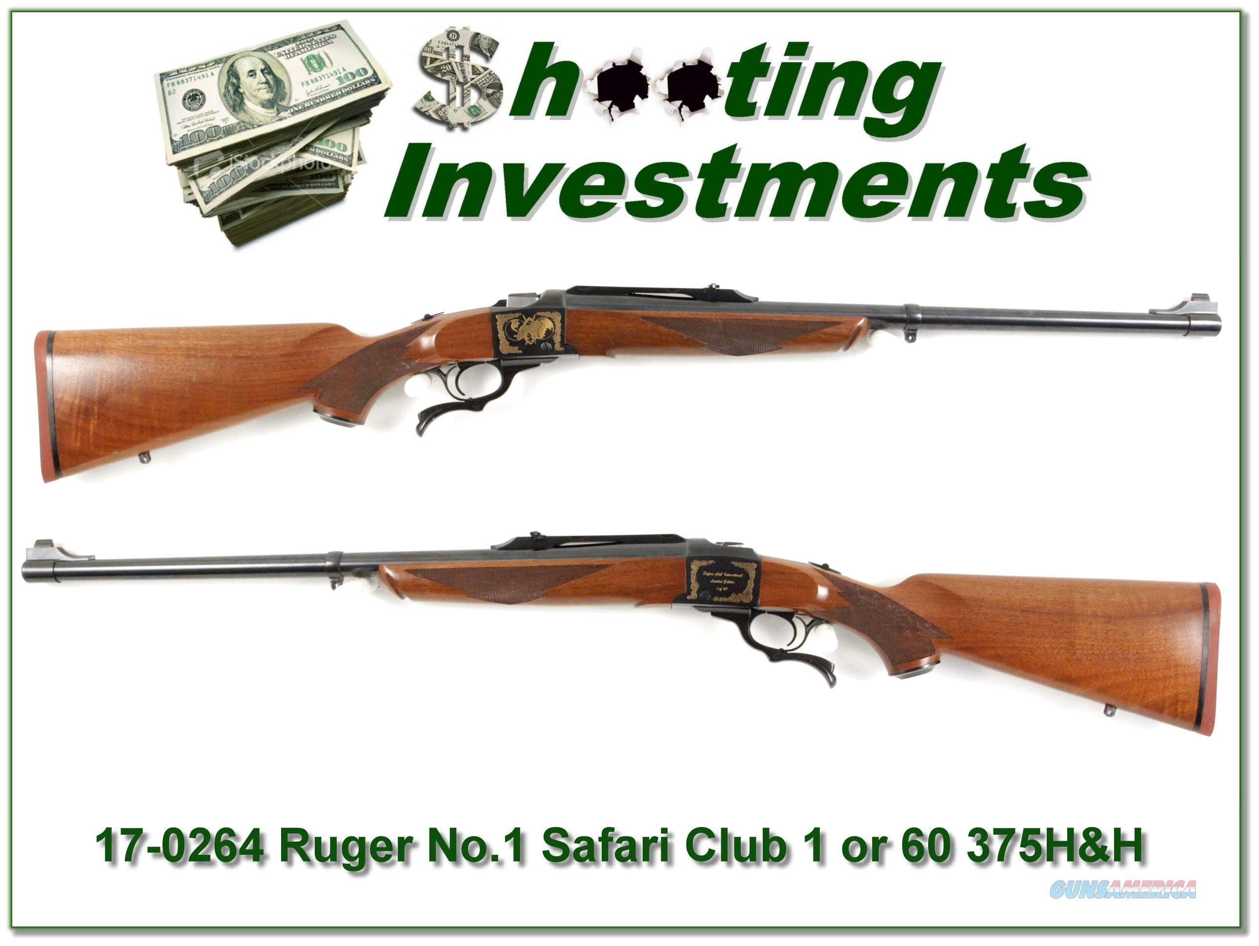 Ruger No.1 375 H&H Safari Club International 1 of 60  Guns > Rifles > Ruger Rifles > #1 Type