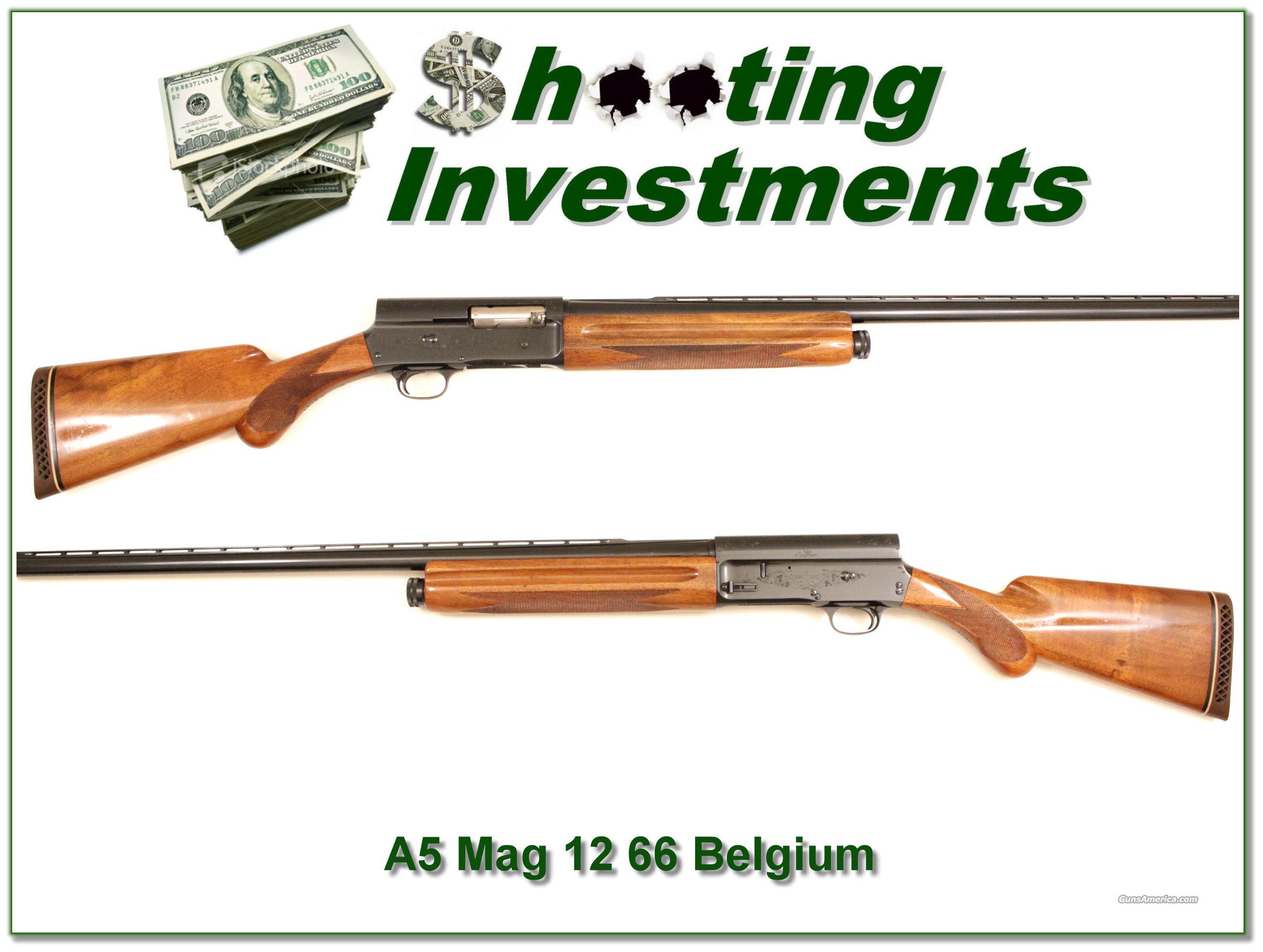 Browning A5 Magnum 12 '66 Belgium Blond  Guns > Shotguns > Browning Shotguns > Autoloaders > Hunting