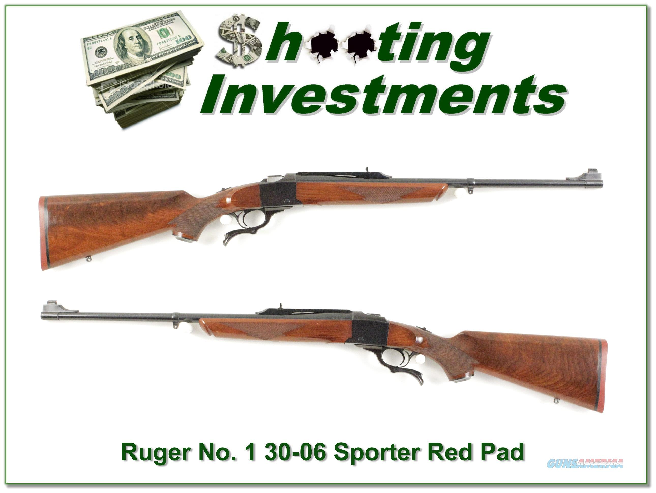 Ruger No.1 Light Sporter 30-06 Red Pad XX Wood!  Guns > Rifles > Ruger Rifles > #1 Type