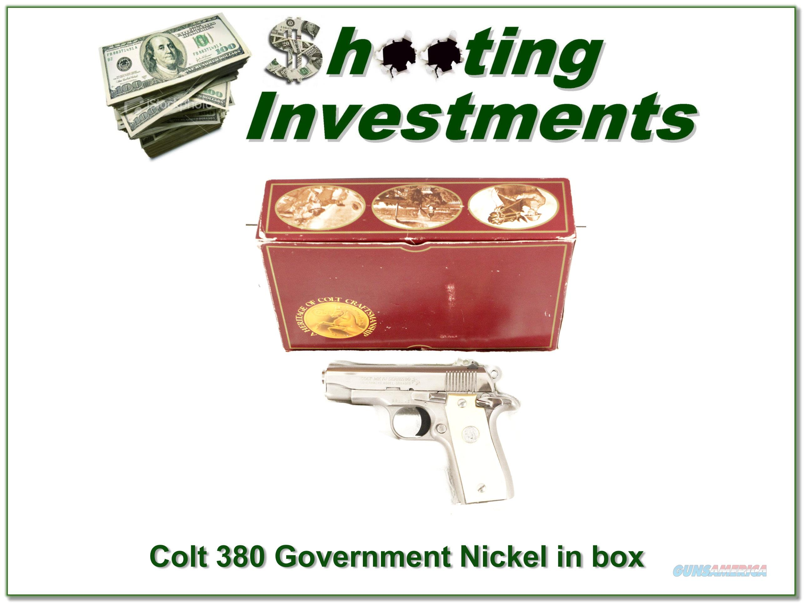 Colt 1911 Government Mark IV Series 70 45 ANIB  Guns > Pistols > Colt Automatic Pistols (.25, .32, & .380 cal)