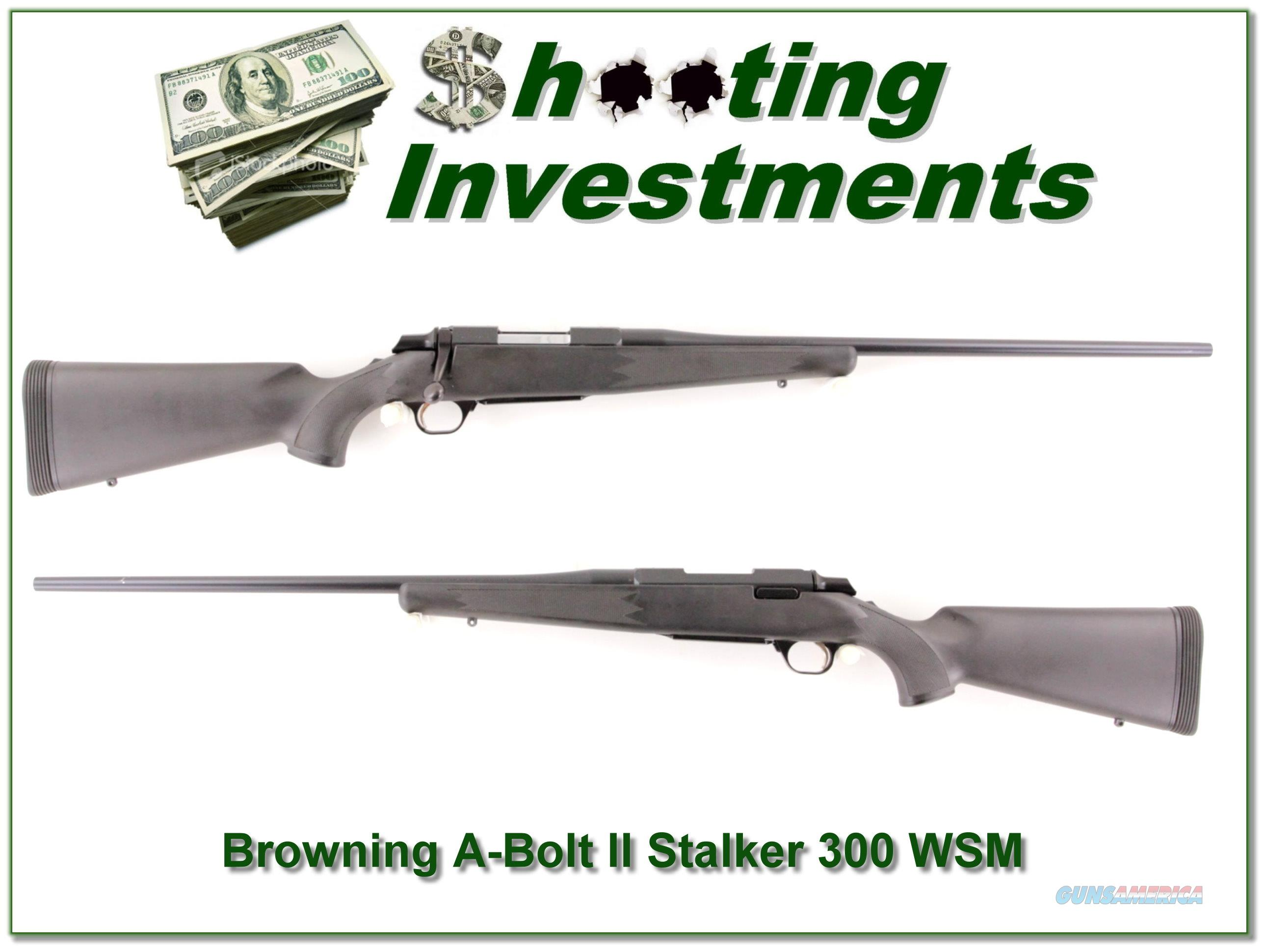 Browning A-Bolt II Stalker 300 WSM as new  Guns > Rifles > Browning Rifles > Bolt Action > Hunting > Blue
