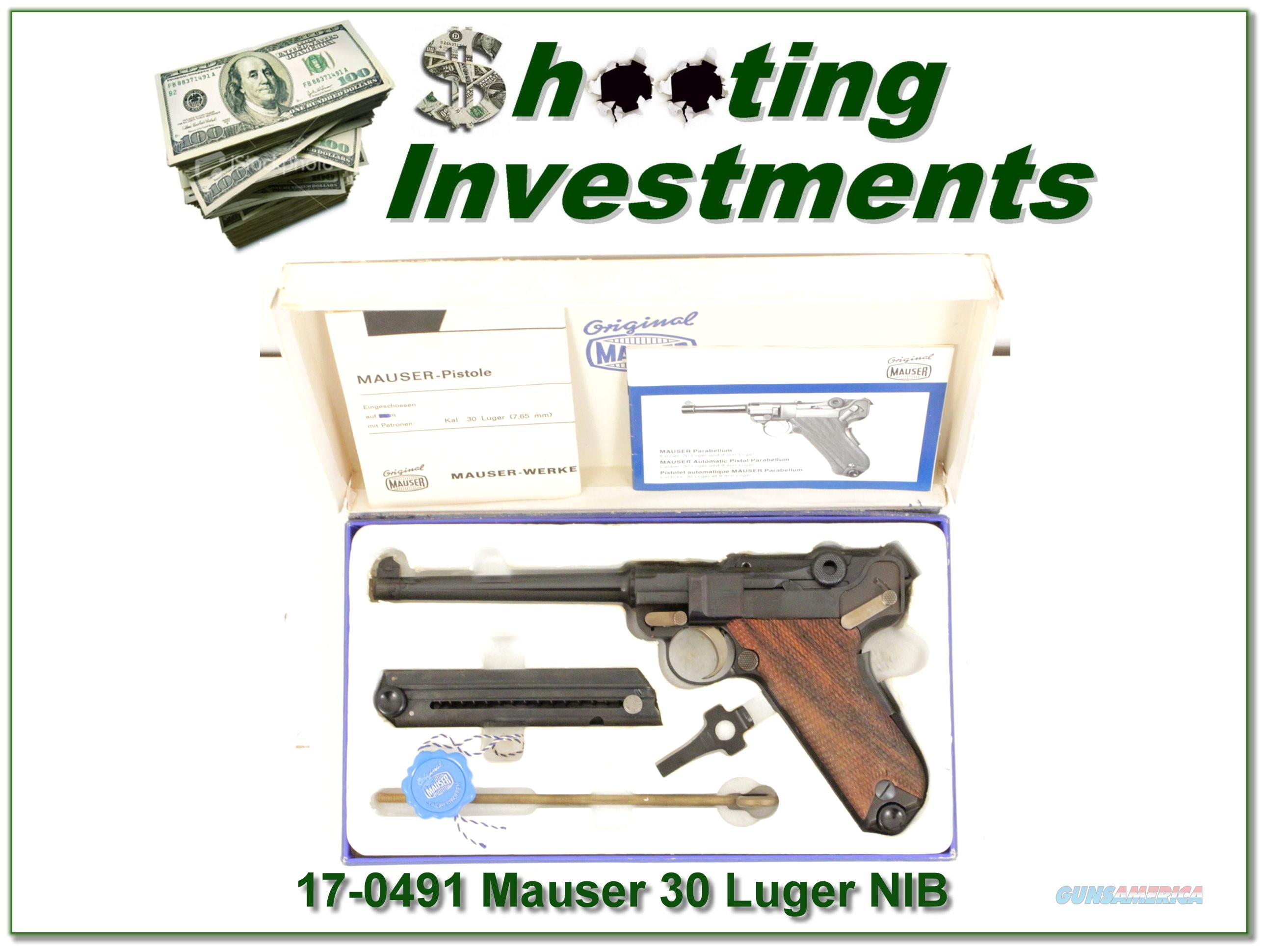 Mauser Luger Interarms 30 caliber 6in NIB!  Guns > Pistols > Mauser Pistols