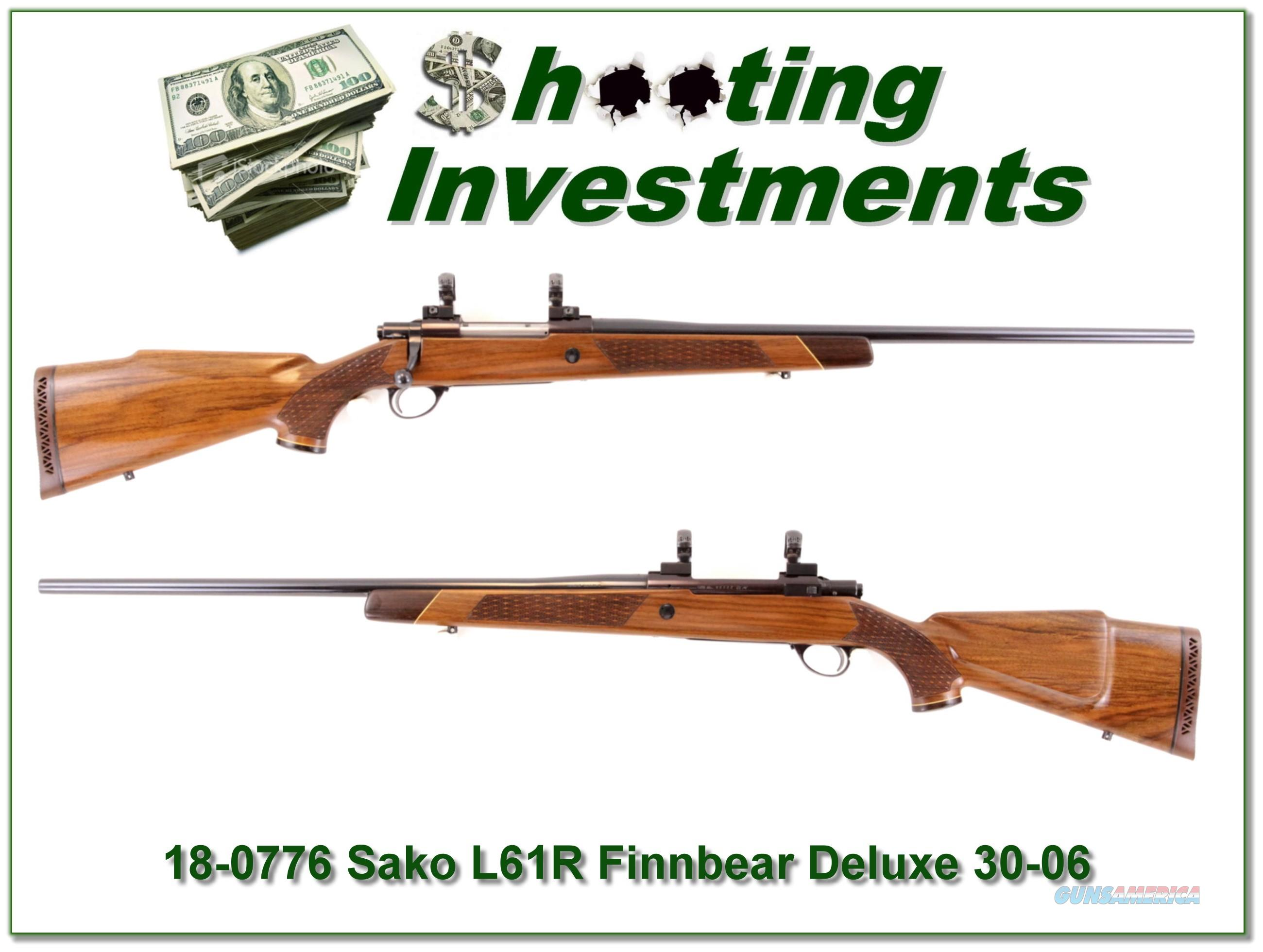 Sako L61R Finnbear Deluxe 30-06 very nice wood!  Guns > Rifles > Sako Rifles > Other Bolt Action