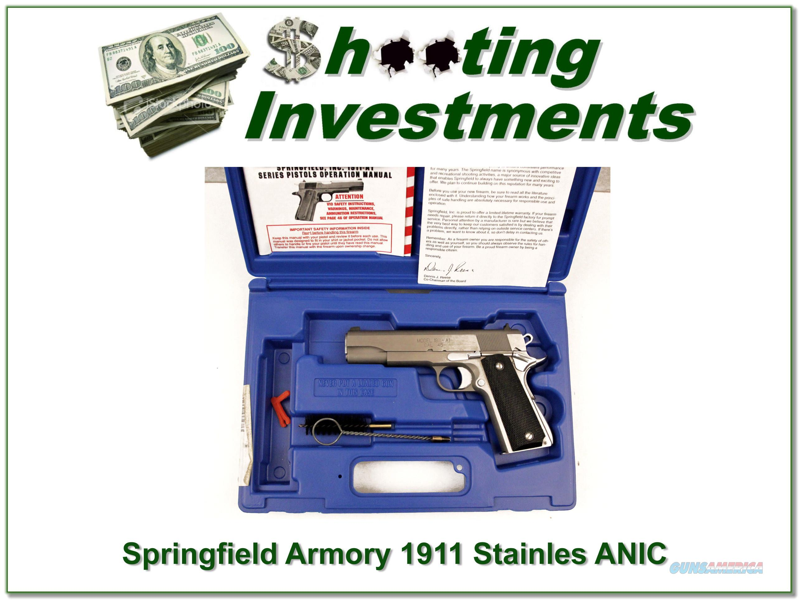 Springfield Armory 1911 Stainless ANIC  Guns > Pistols > Springfield Armory Pistols > 1911 Type