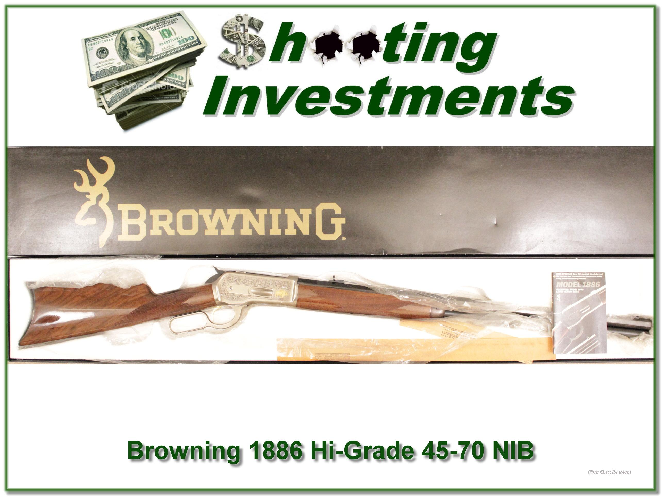 Browning 1886 45-70 High Grade NIB  Guns > Rifles > Browning Rifles > Lever Action