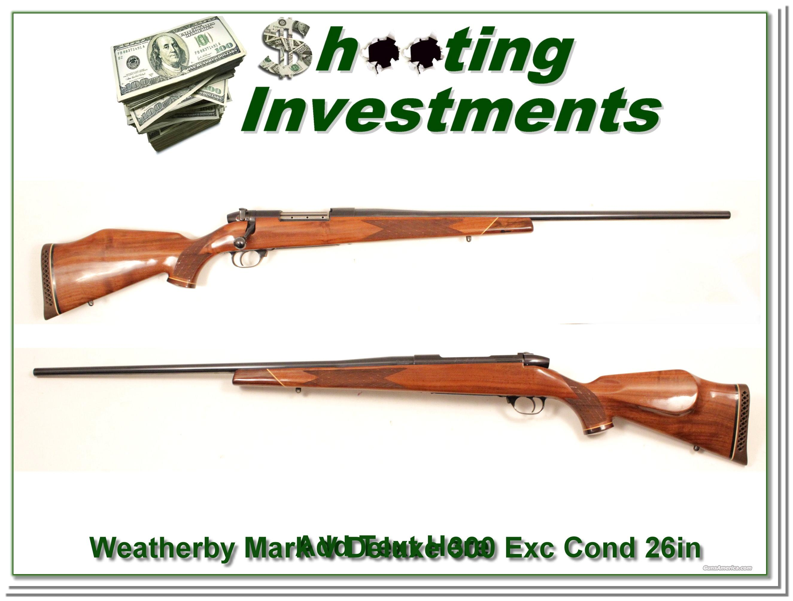Weatherby Mark V Deluxe 300 Wthy Mag near new!  Guns > Rifles > Weatherby Rifles > Sporting