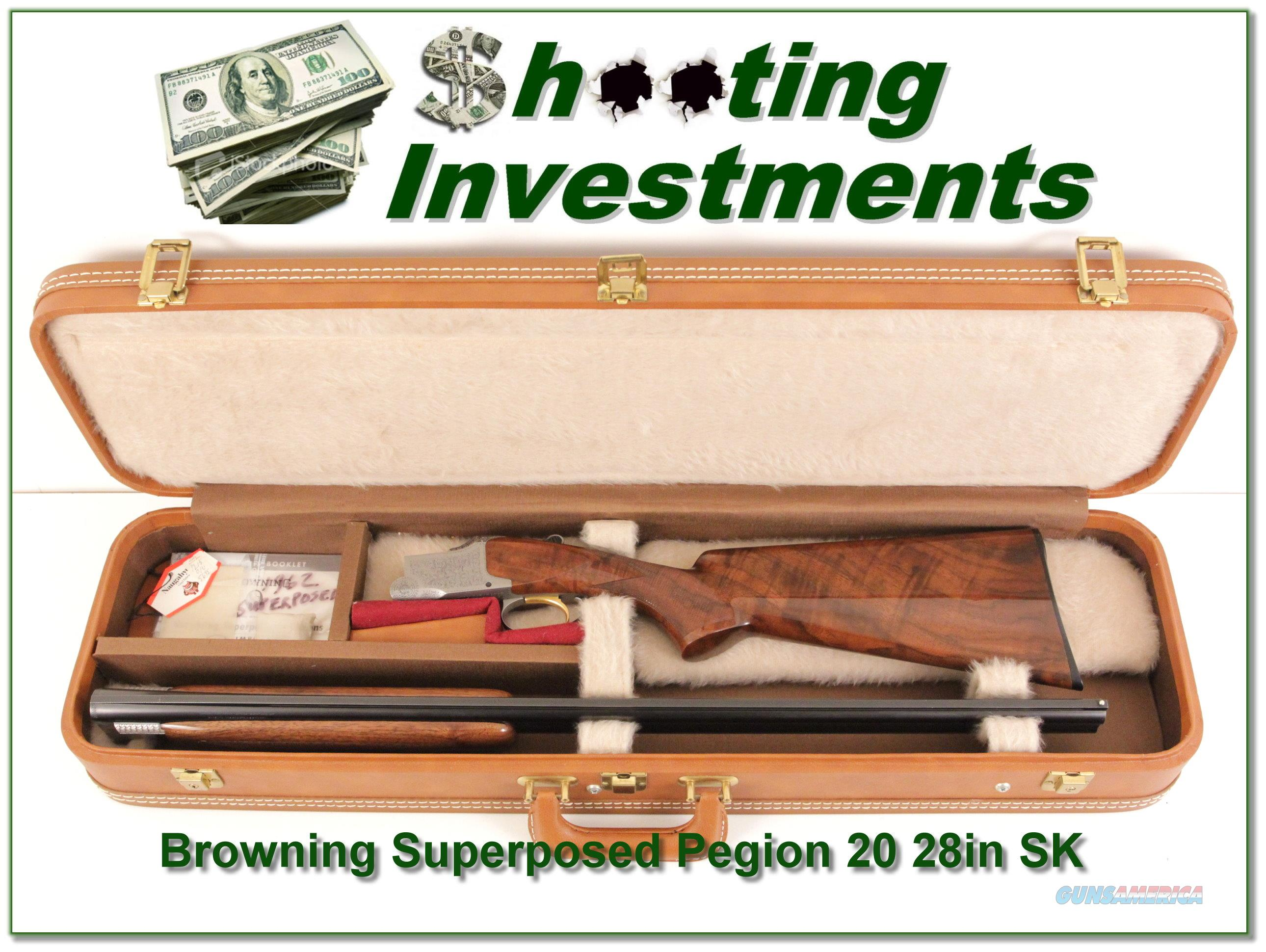 Browning Superposed 20 Gauge Pigeon 28in Skeet  Guns > Shotguns > Browning Shotguns > Over Unders > Belgian Manufacture
