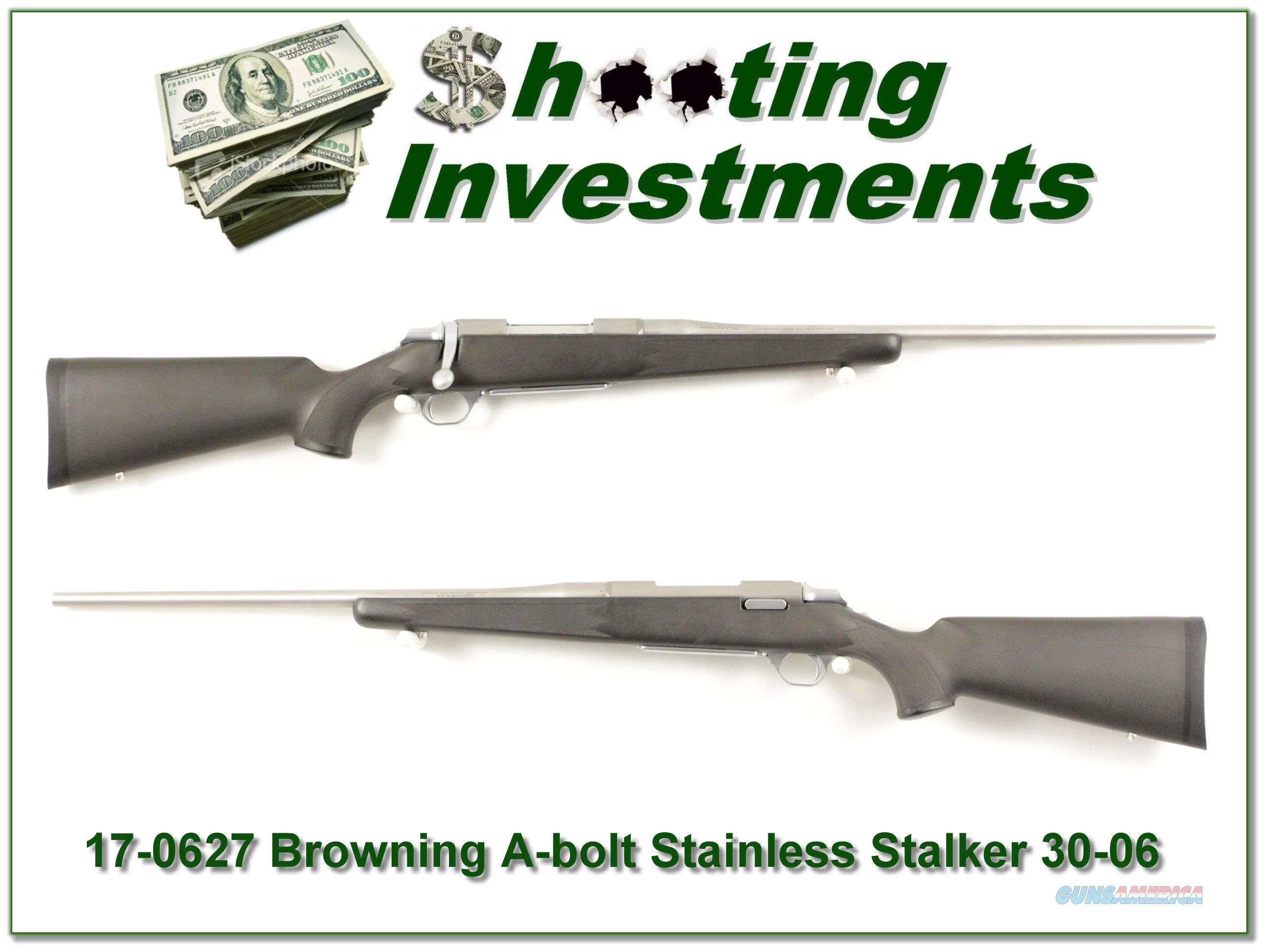 Browning A-bolt II Stainless Stalker 30-06 like new!  Guns > Rifles > Browning Rifles > Bolt Action > Hunting > Stainless