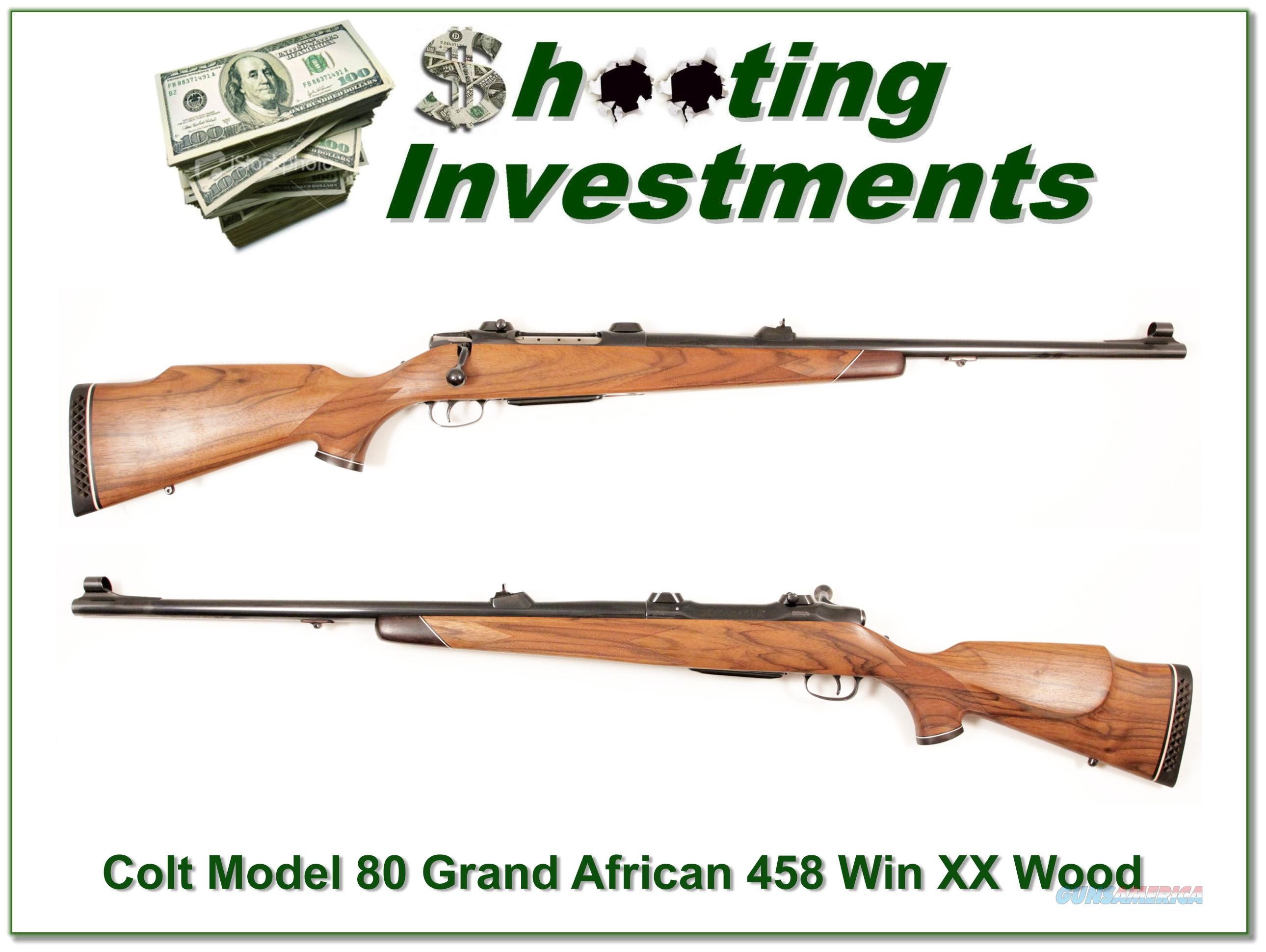 Sauer 80 Grand African 458 Win XX Wood!  Guns > Rifles > Sig - Sauer/Sigarms Rifles