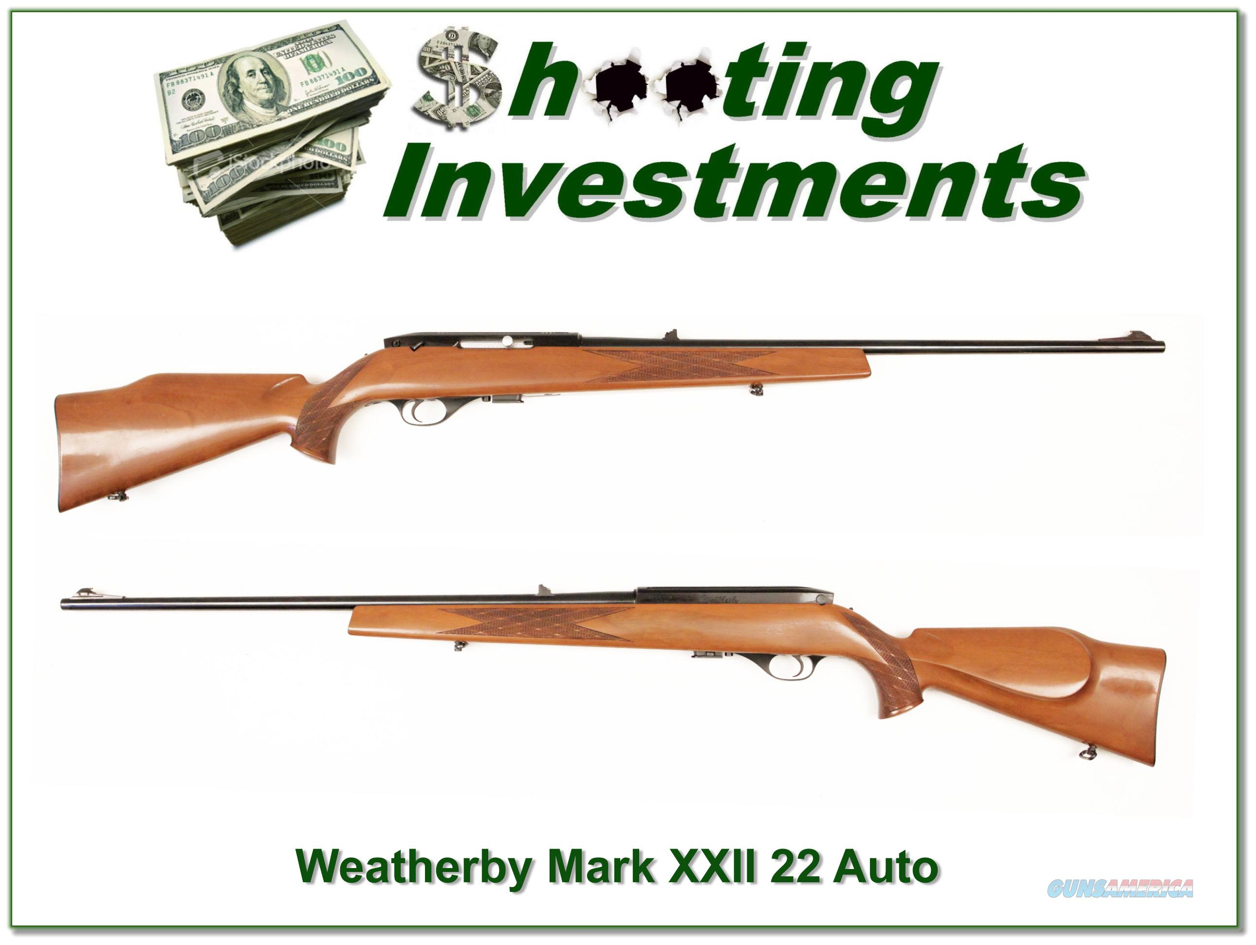 Weatherby Mark XXII 22 Auto early Italian  Guns > Rifles > Weatherby Rifles > Sporting