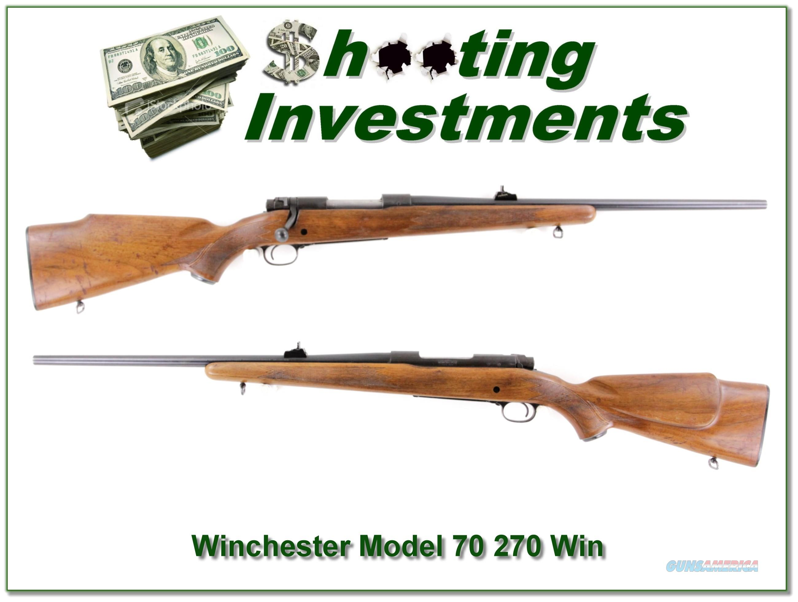 Winchester Model 70 made in 1966 270 Winchester  Guns > Rifles > Winchester Rifles - Modern Bolt/Auto/Single > Model 70 > Post-64