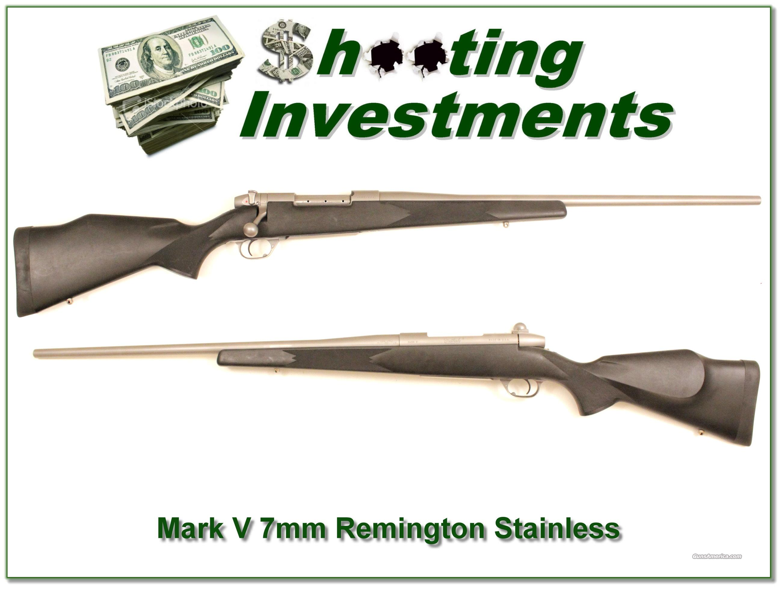 Weatherby Mark V Stainless 7mm Remington  Guns > Rifles > Weatherby Rifles > Sporting