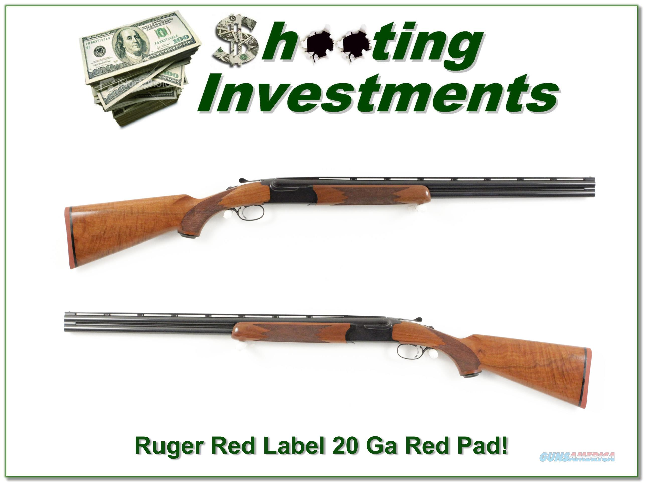 Ruger Red Label 20 Gauge XX Wood mint 26in IC and MOD  Guns > Shotguns > Ruger Shotguns > Hunting