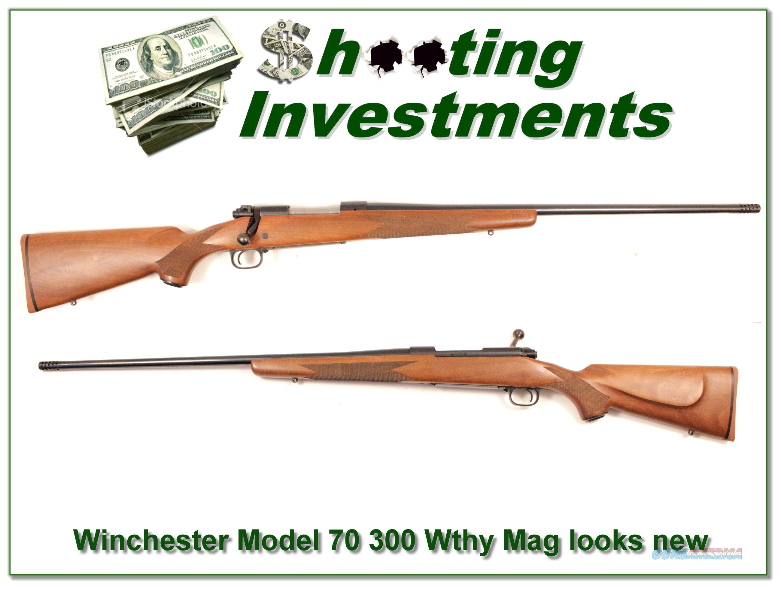 Winchester Model 70 300 Weatherby Exc Cond!  Guns > Rifles > Winchester Rifles - Modern Bolt/Auto/Single > Other Bolt Action