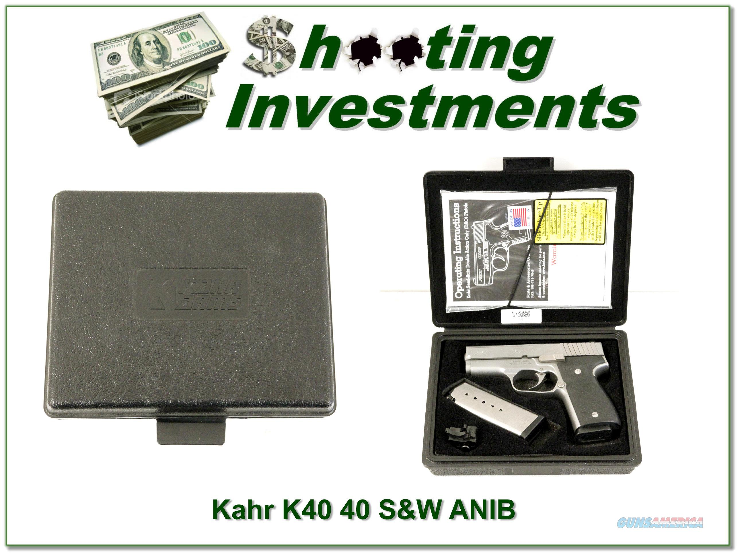 Kahr K40 Stainless as new 40 S&W  Guns > Pistols > Kahr Pistols