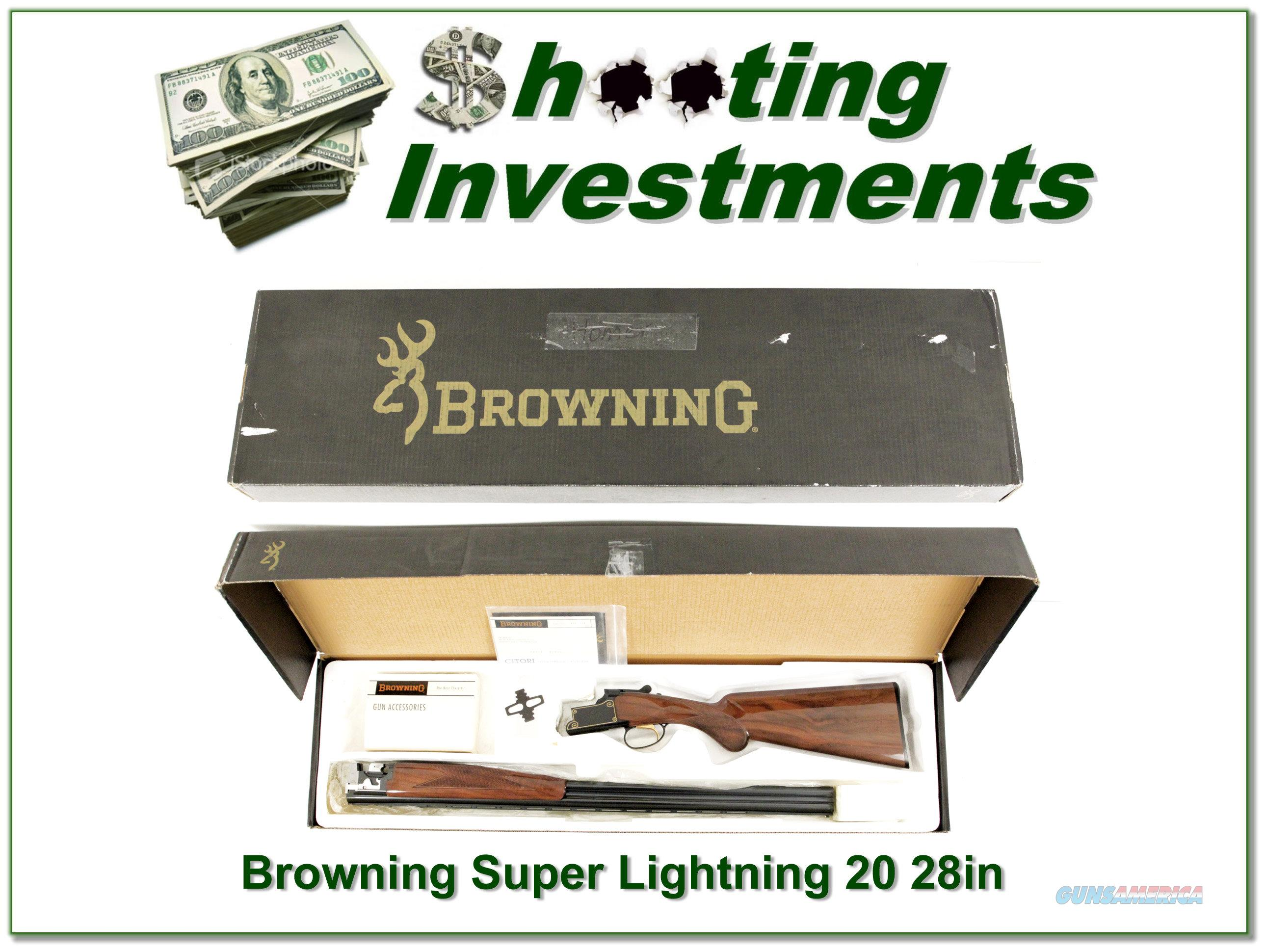 Browning Citori Super Lightning 20 Gauge 28in in box!  Guns > Shotguns > Browning Shotguns > Over Unders > Citori > Hunting