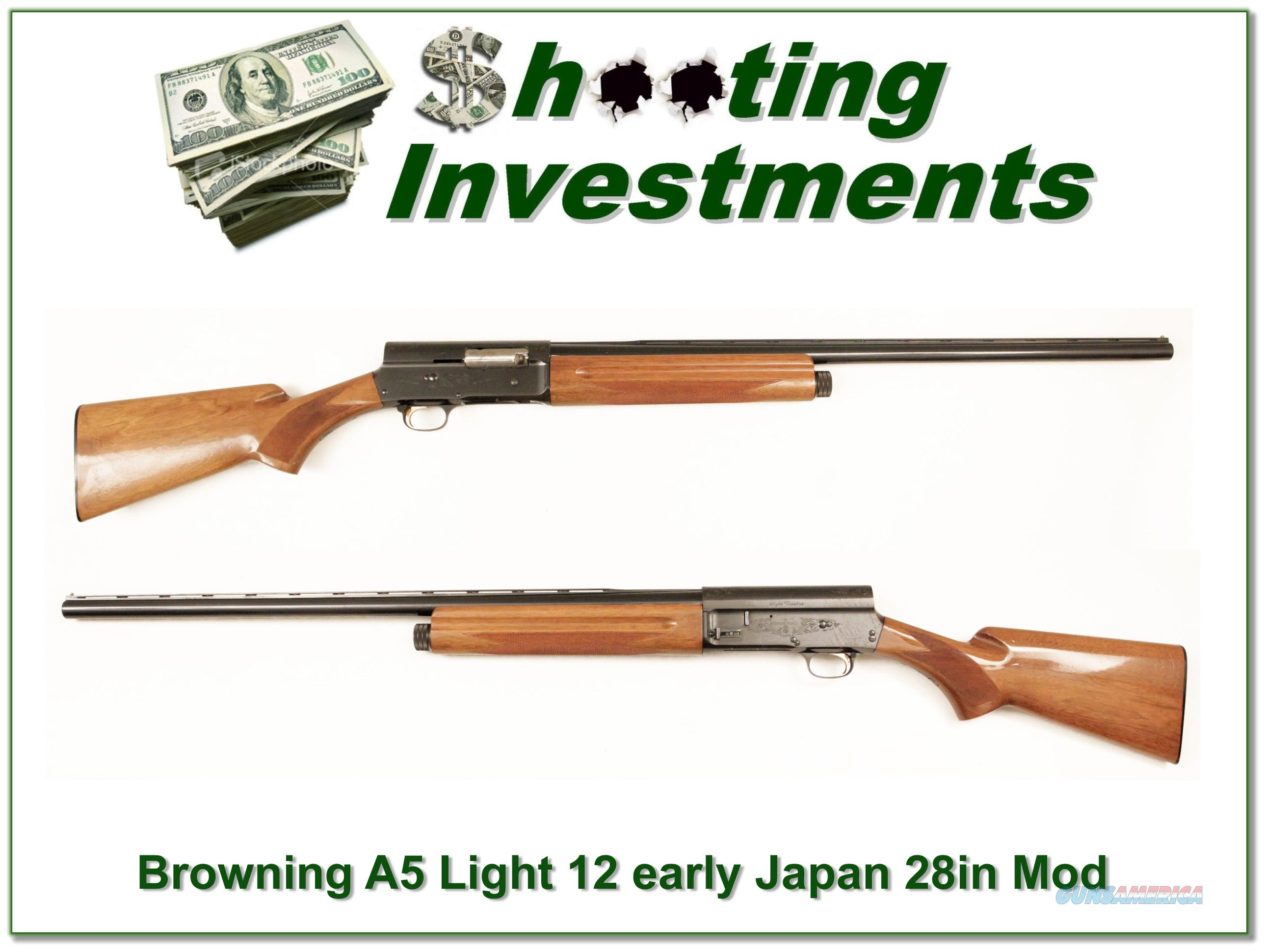 Browning A5 Light 12 28in Vent Rib Modified!  Guns > Shotguns > Browning Shotguns > Autoloaders > Hunting