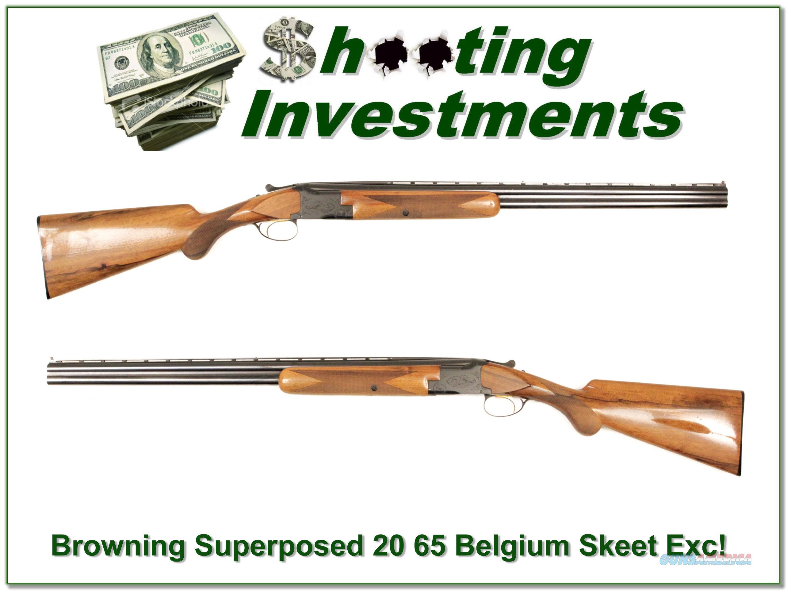 Browning Superposed 20 Gauge 65 Belgium 26in Skeet!  Guns > Shotguns > Browning Shotguns > Over Unders > Belgian Manufacture
