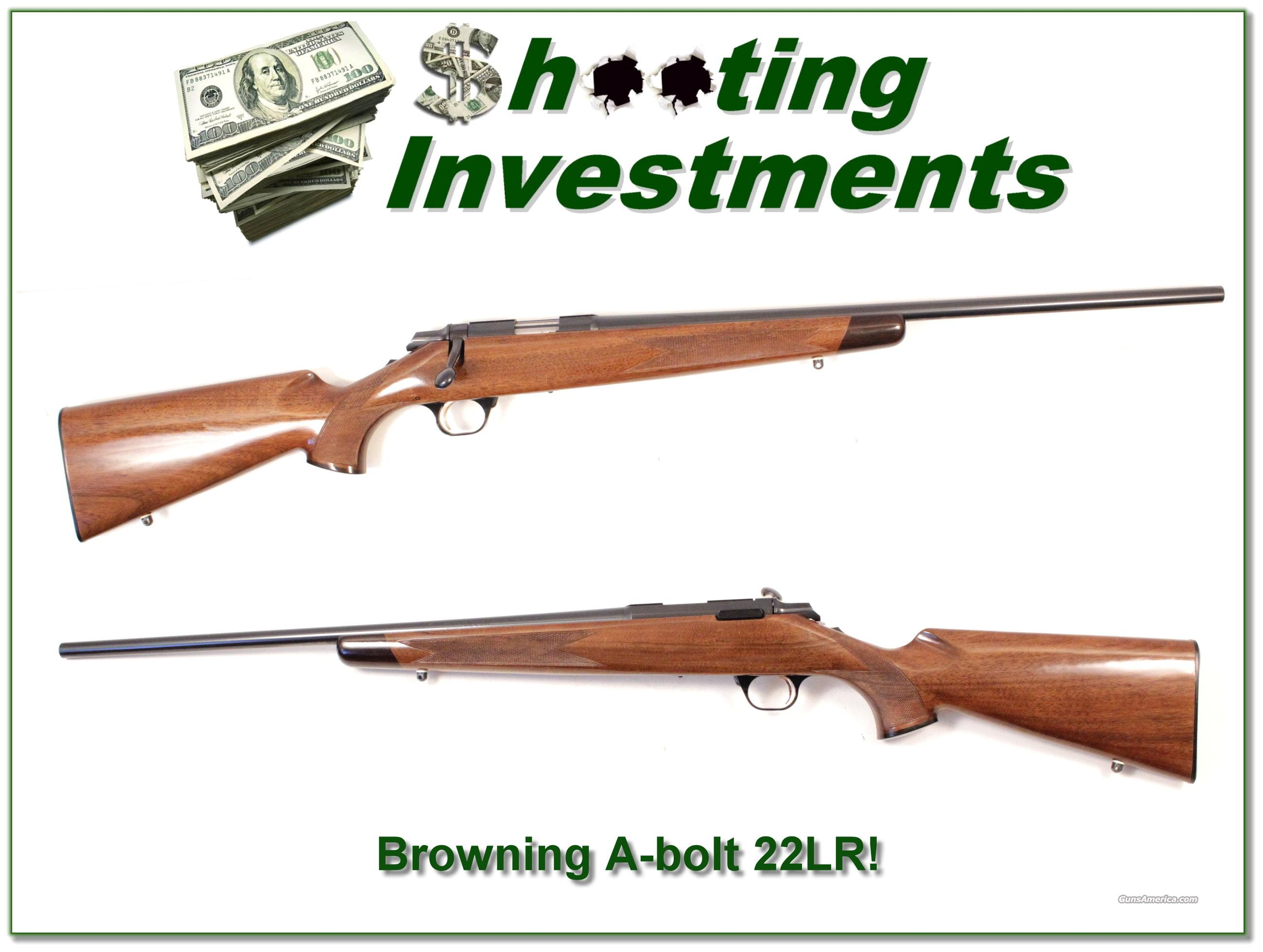 Browning A-Bolt 22 LR Exc Cond!  Guns > Rifles > Browning Rifles > Bolt Action > Hunting > Blue
