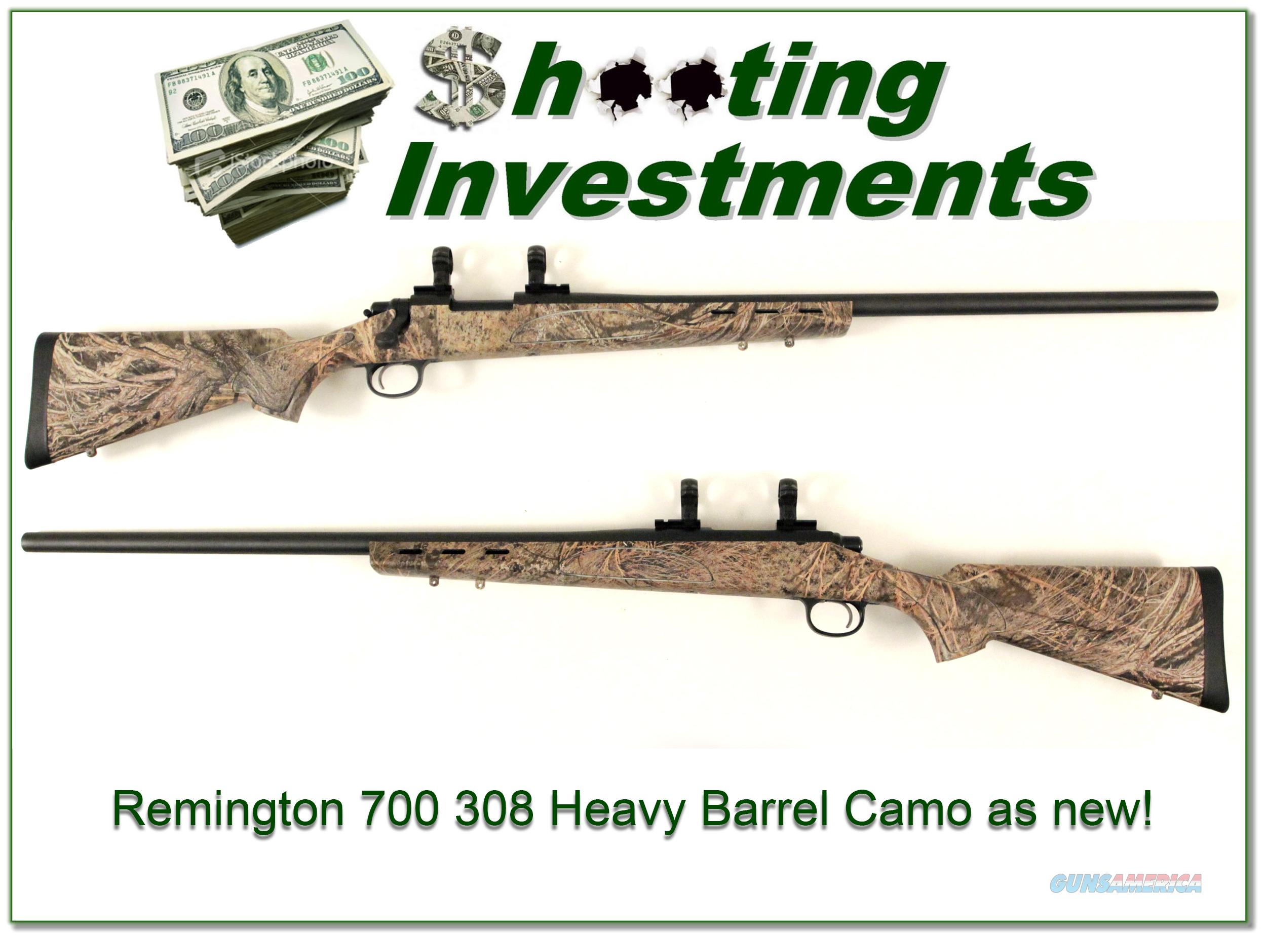 Remington Model 700 Varmint 308 Win Camo Exc Cond!  Guns > Rifles > Remington Rifles - Modern > Model 700 > Sporting