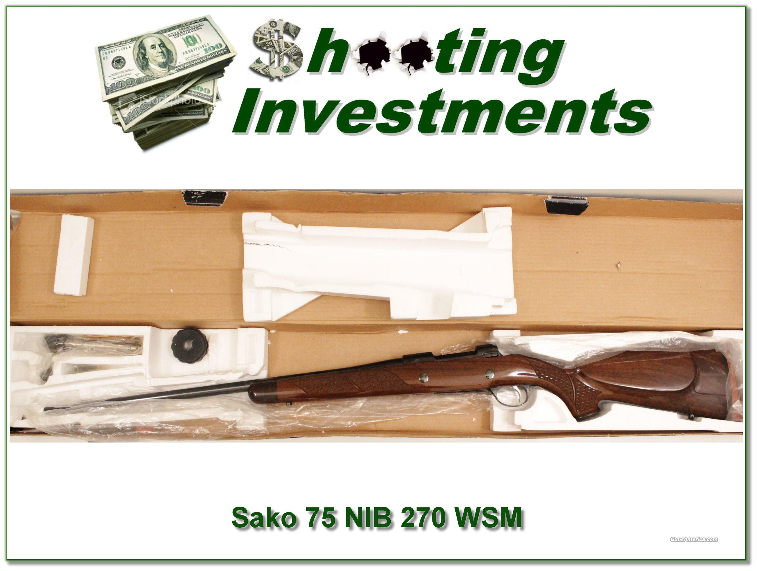 Sako 75 Deluxe 270 WSM NIB!  Guns > Rifles > Sako Rifles > M75 Series