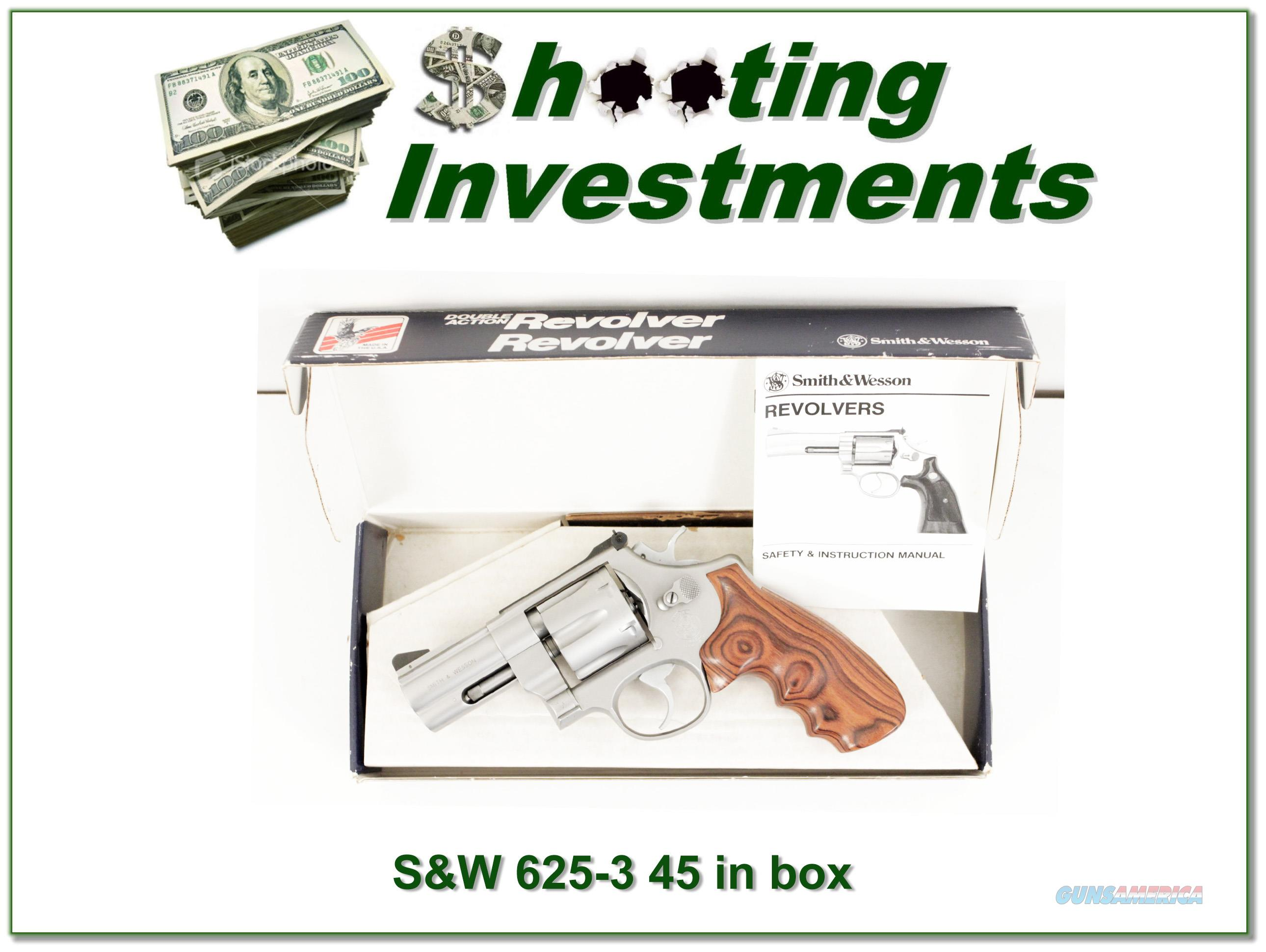 Smith & Wesson 625-3 625 45 Stainless 3in NIB  Guns > Pistols > Smith & Wesson Revolvers > Full Frame Revolver