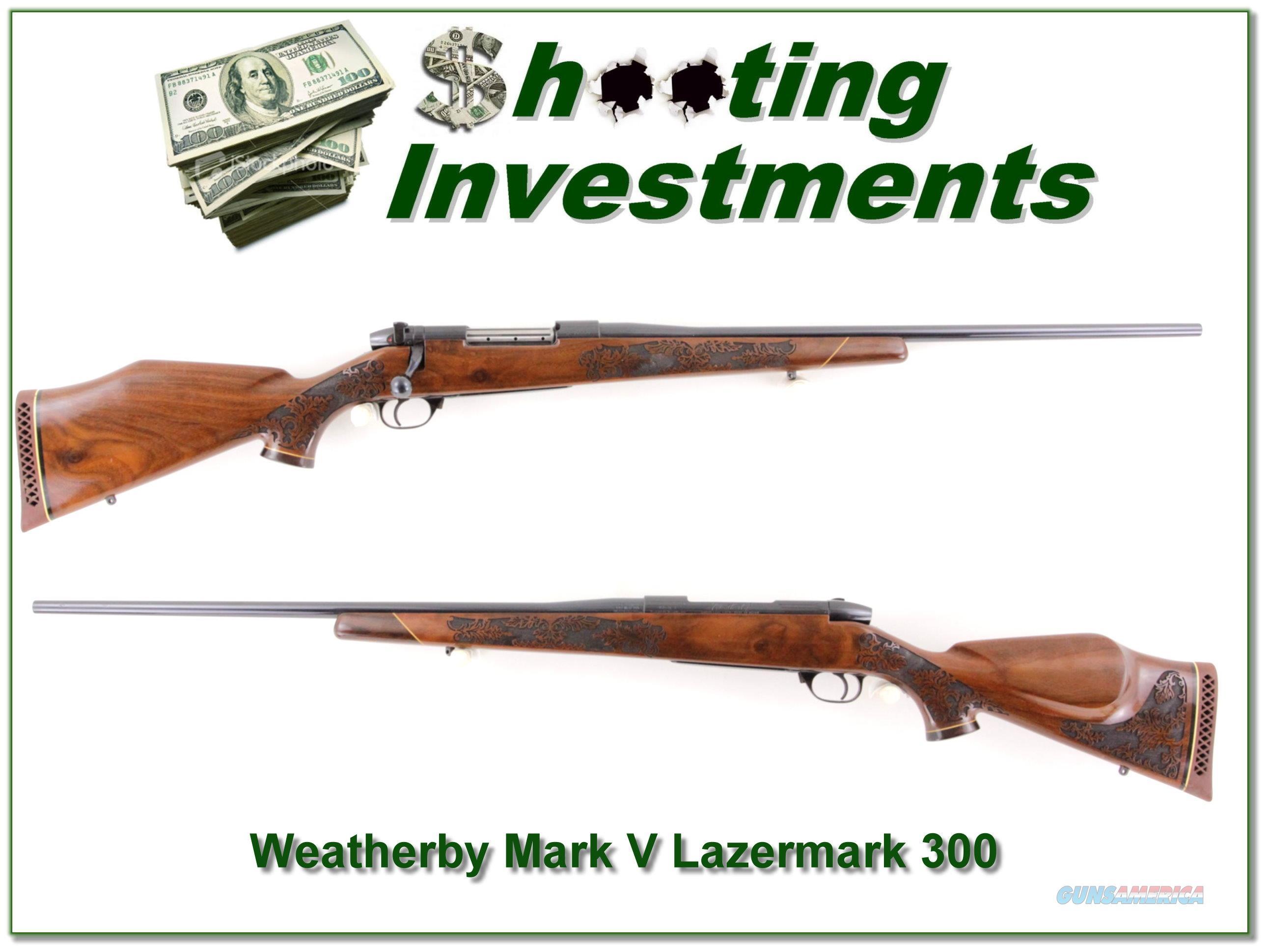 Weatherby Mark 5 Lazermark 5 Panel 300  Guns > Rifles > Weatherby Rifles > Sporting