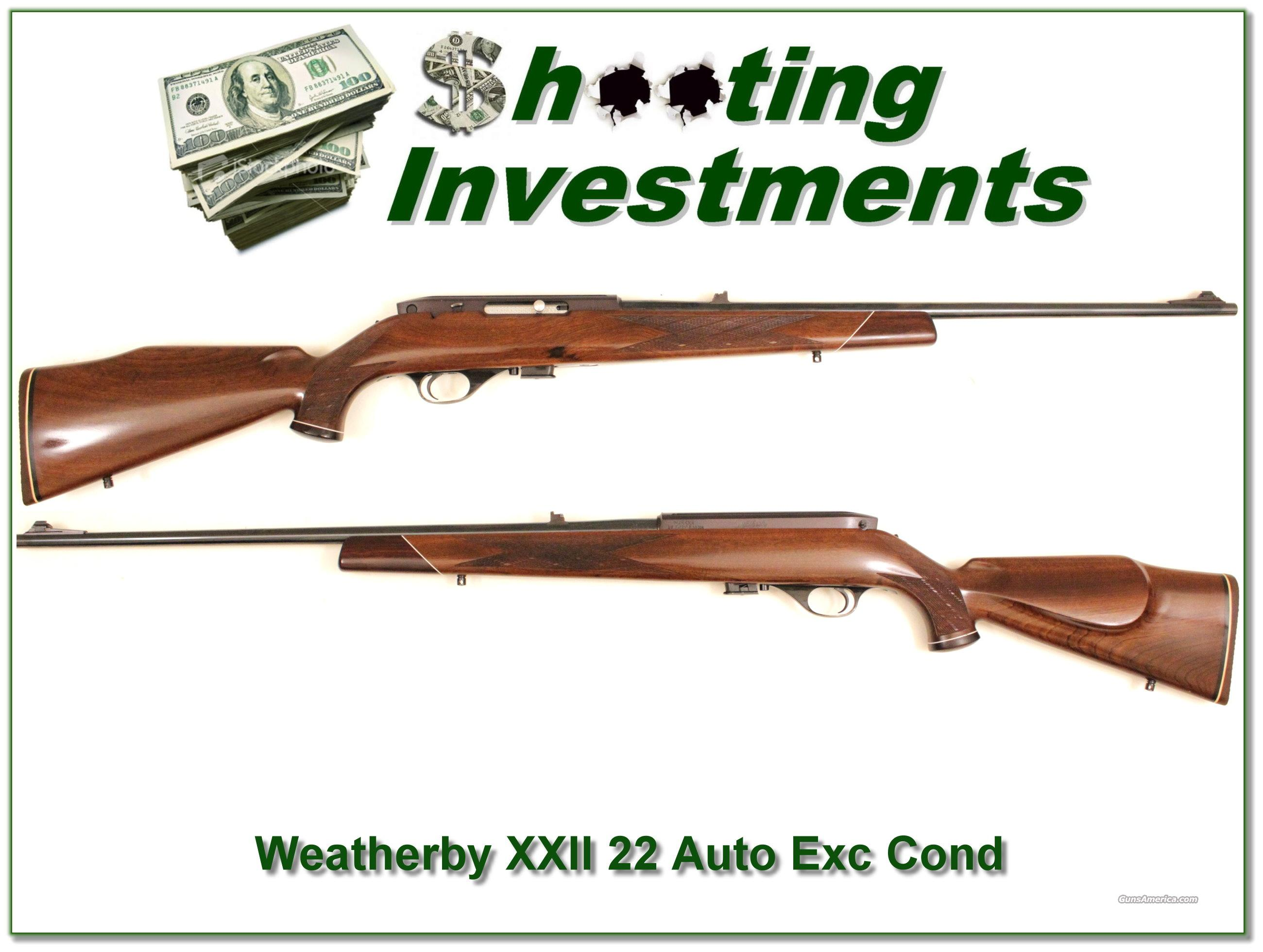 Weatherby XXII semi auto EXC Cond!  Guns > Rifles > Weatherby Rifles > Sporting